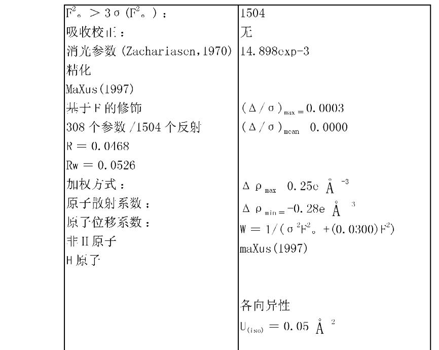 zd1839三水合物:非氢原子的终坐标和