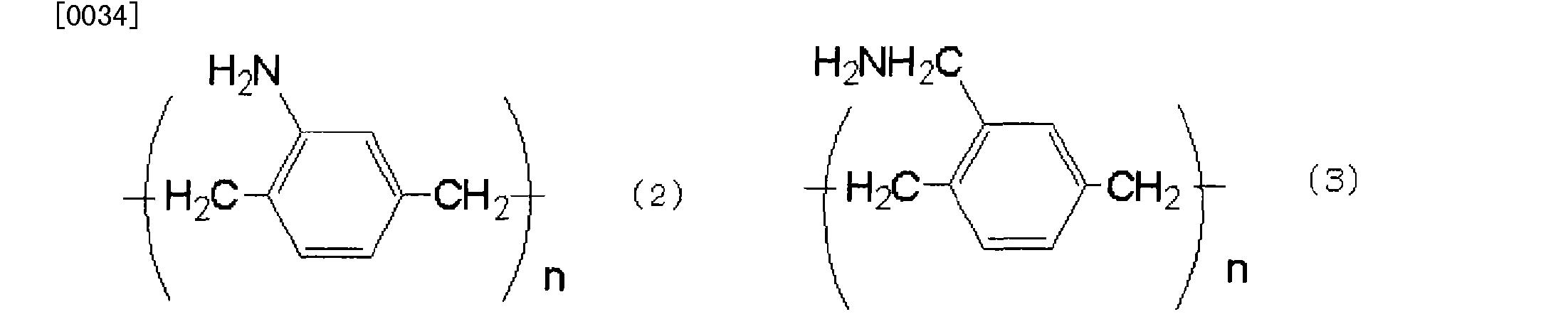 [0154] 其中,从向有机半导体层4供应电子的角度考虑,特别优选上述化学式I及上述化学式7的化合物,S卩,聚(氨基)对苯二亚甲基、和聚(氨基甲基)对苯二亚甲基。通过使用该化合物,能够更显著地发挥上述效果。 [0155] 第2绝缘层7的平均厚度优选为10〜lOOOOnm、更优选为200〜lOOOnm。由此能 够制作同时兼具低成本和高性能的晶体管的薄膜晶体管I。 [0156] 该第2绝缘层7的材料是以上述通式(I)所示的化合物作为主材料而成的,优选包含50〜100wt%的上述化合物、更优选包含70〜100