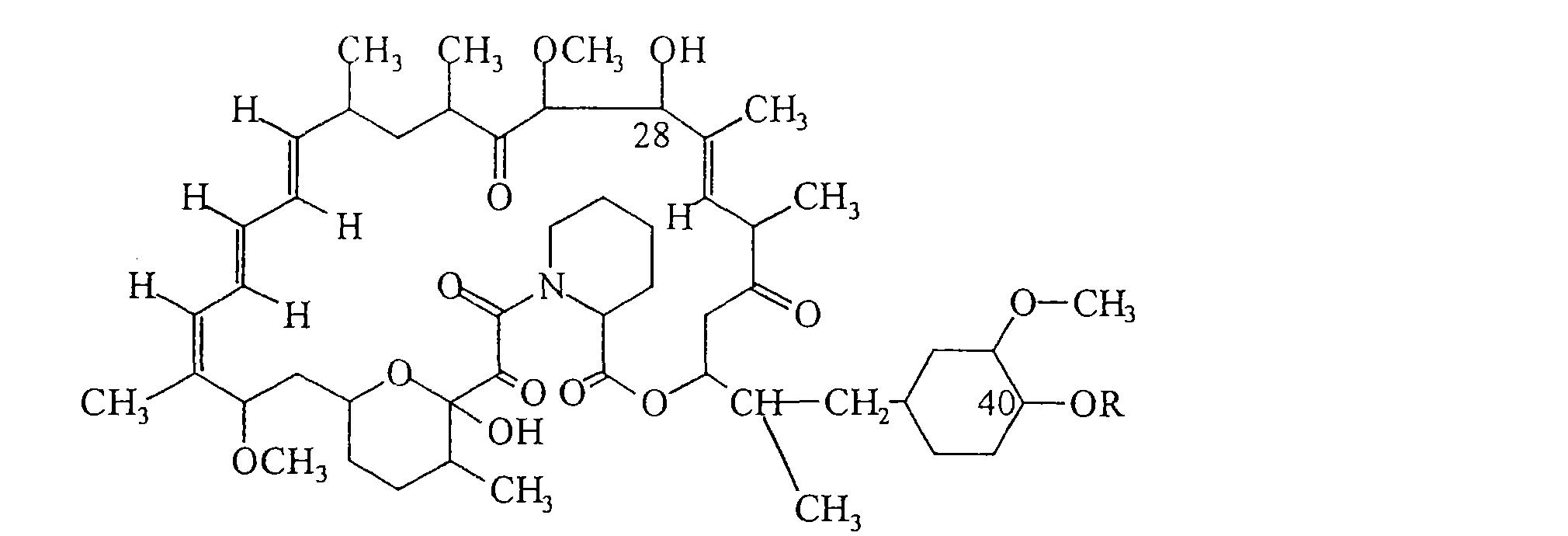 雷帕霉素具有以下分子结构