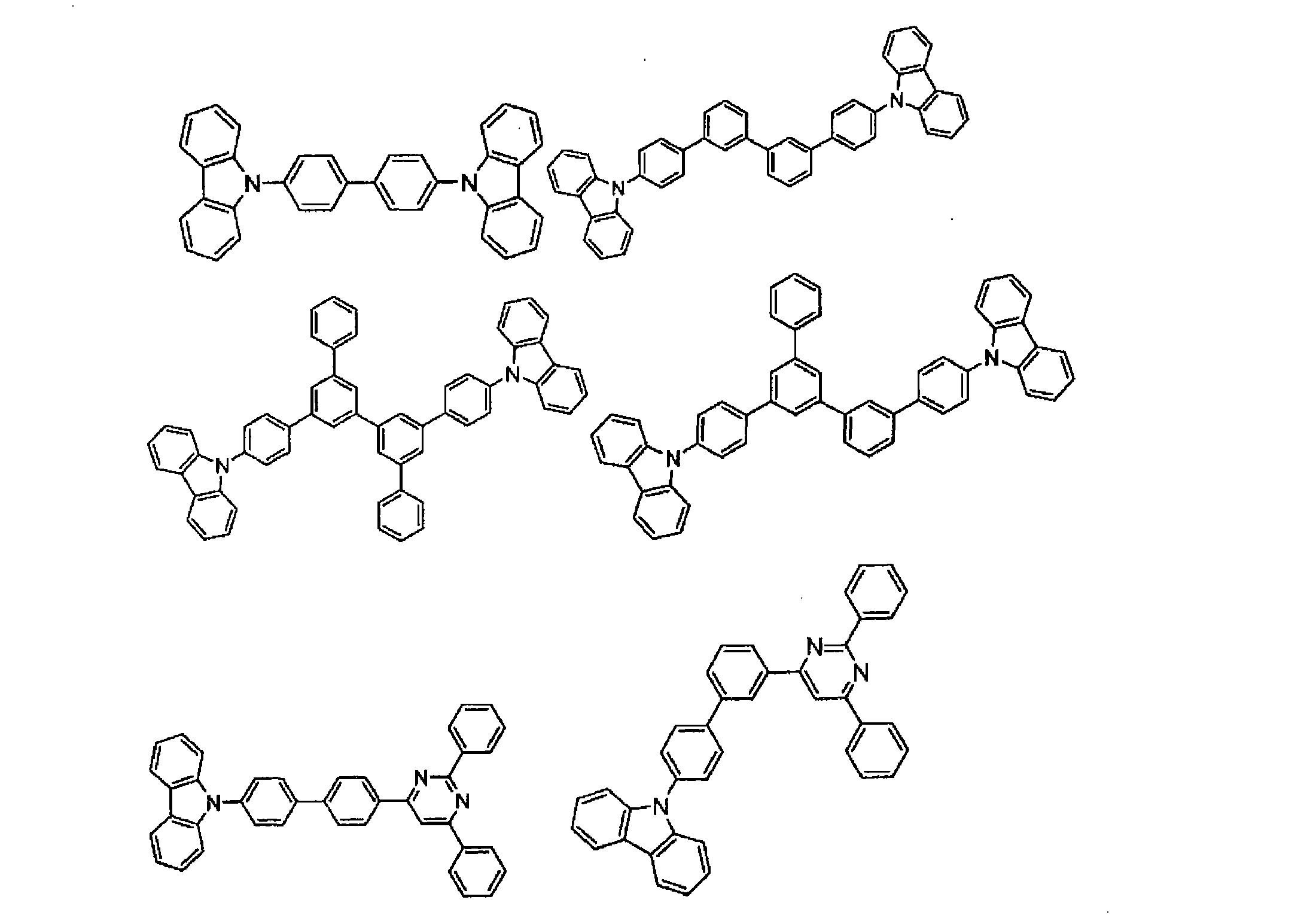 [0233][式中,环A24和A25为可具有取代基的互相缩合的6元芳环结构。] [0234] 该金属络合物作为型半导体的性质强,电子注入能力大。另外,络合物形成时的生成能量也低,因此,形成的金属络合物的金属与配位体之间的结合性也变牢固,作为发光材料的荧光量子效率也变大。 [0235] 列举形成式(G)的配位体的环Am和A25的取代基的具体例子时,有:氯、溴、碘、氟等卤素原子、甲基、乙基、丙基、丁基、仲丁基、叔丁基、戊基、己基、庚基、辛基、硬质基、三氯甲基等取代或未取代的烷基、苯基、萘基、3-甲基苯基、3