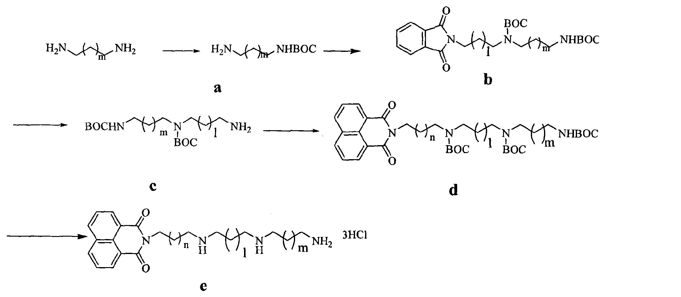 含萘酰亚胺结构的多胺衍生物的制备方法