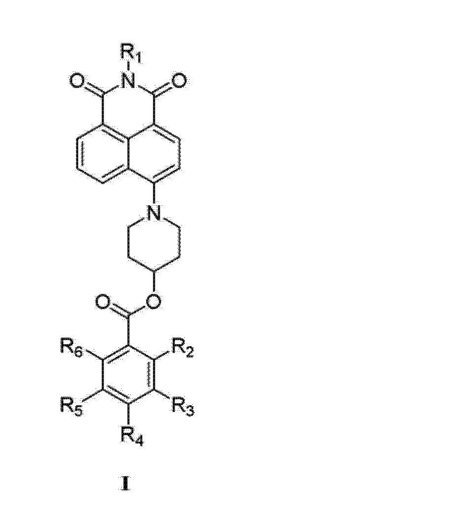 其特征在于:该染料具有以下的化学分子结构通式