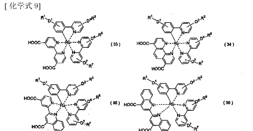 所示的部分结构的吡啶类金属络合物
