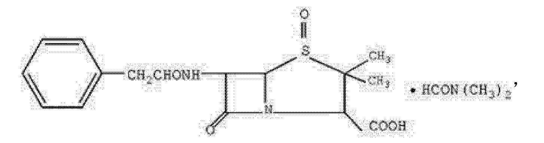 一种青霉素g亚砜dmf复合晶体