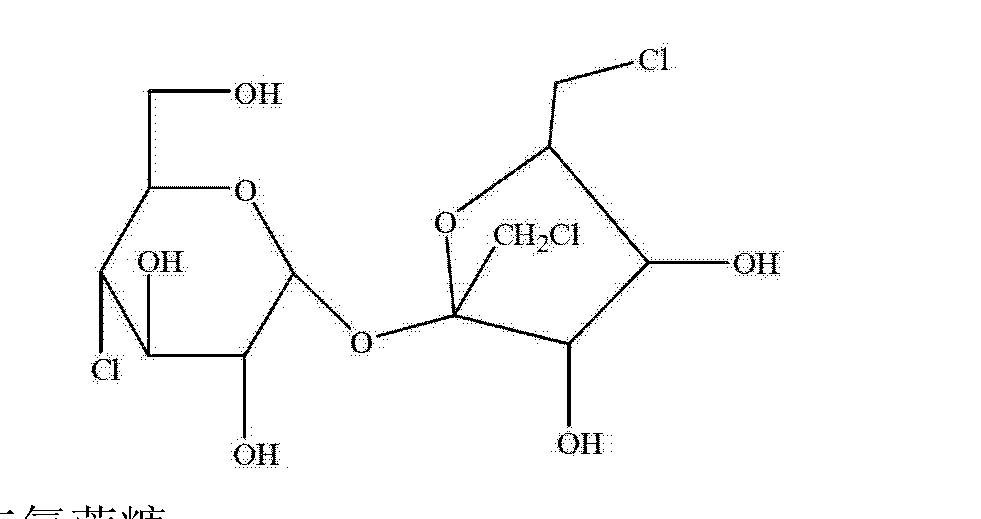 三氯蔗糖的结构式如下