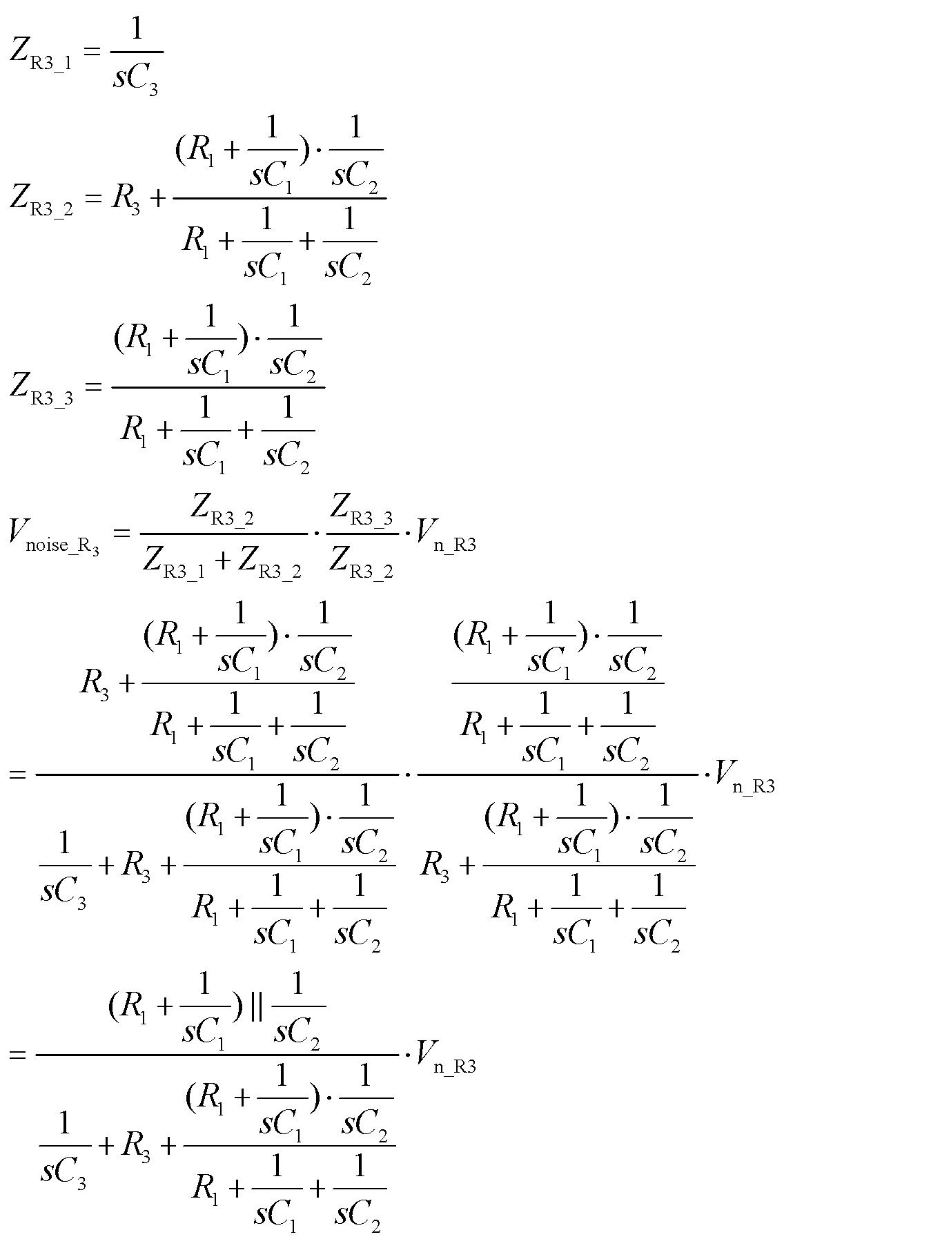 电阻r3的噪声传递函数推导如下