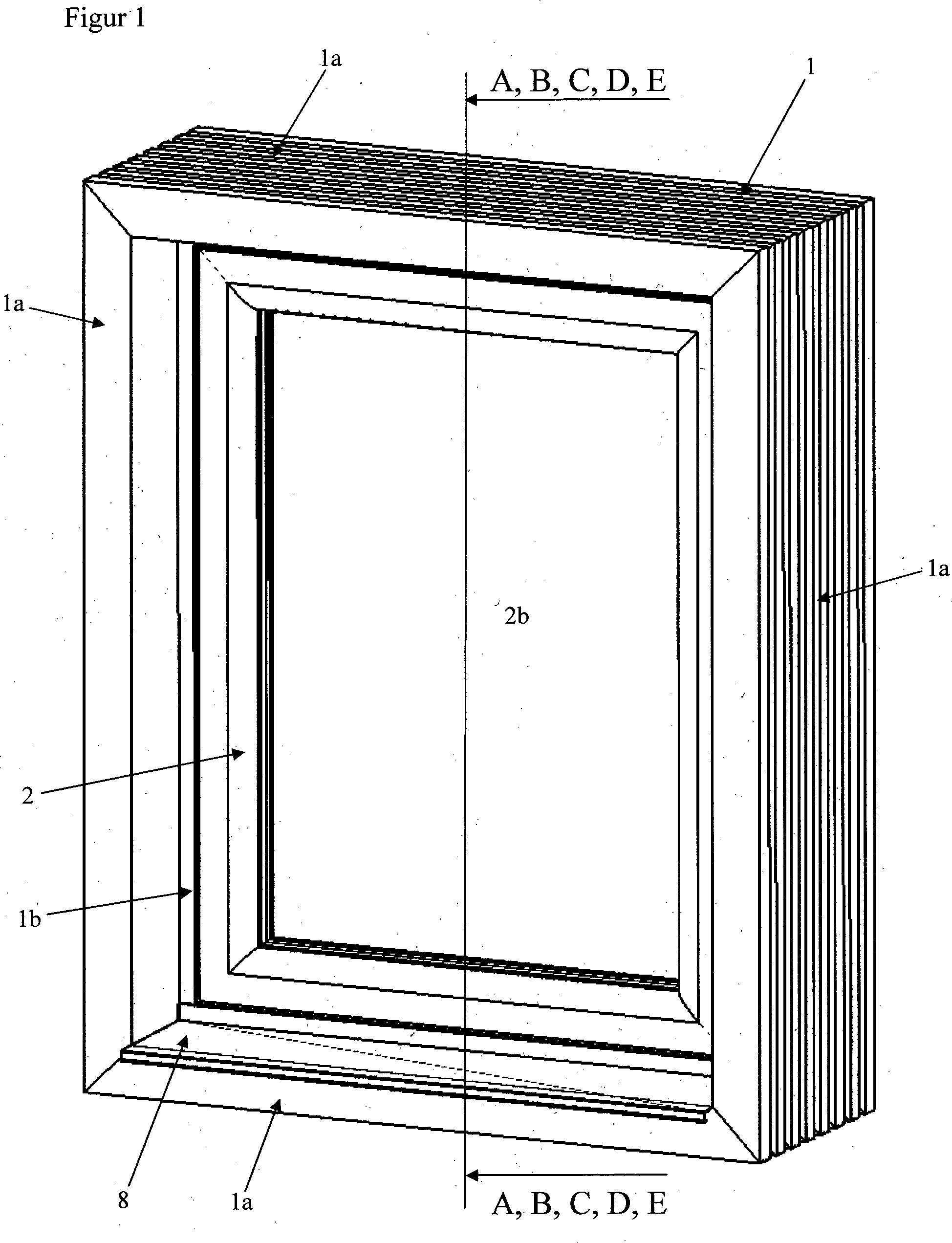 patent de102010004254a1 fenster t r oder glaselement mit hochged mmten blendrahmen sowie. Black Bedroom Furniture Sets. Home Design Ideas