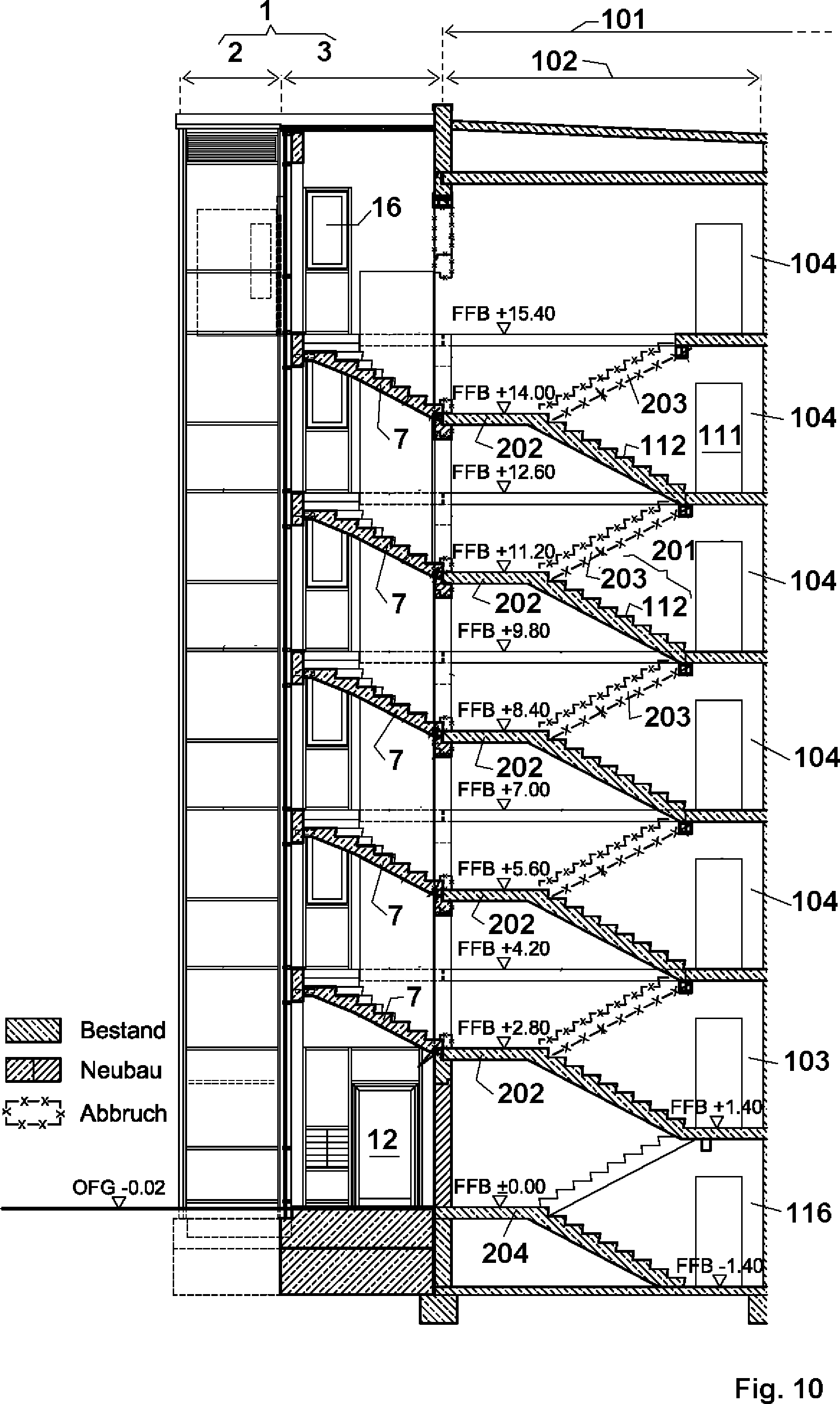 patent de102011052727a1 lift for attachment to multi storey building has intermediate. Black Bedroom Furniture Sets. Home Design Ideas