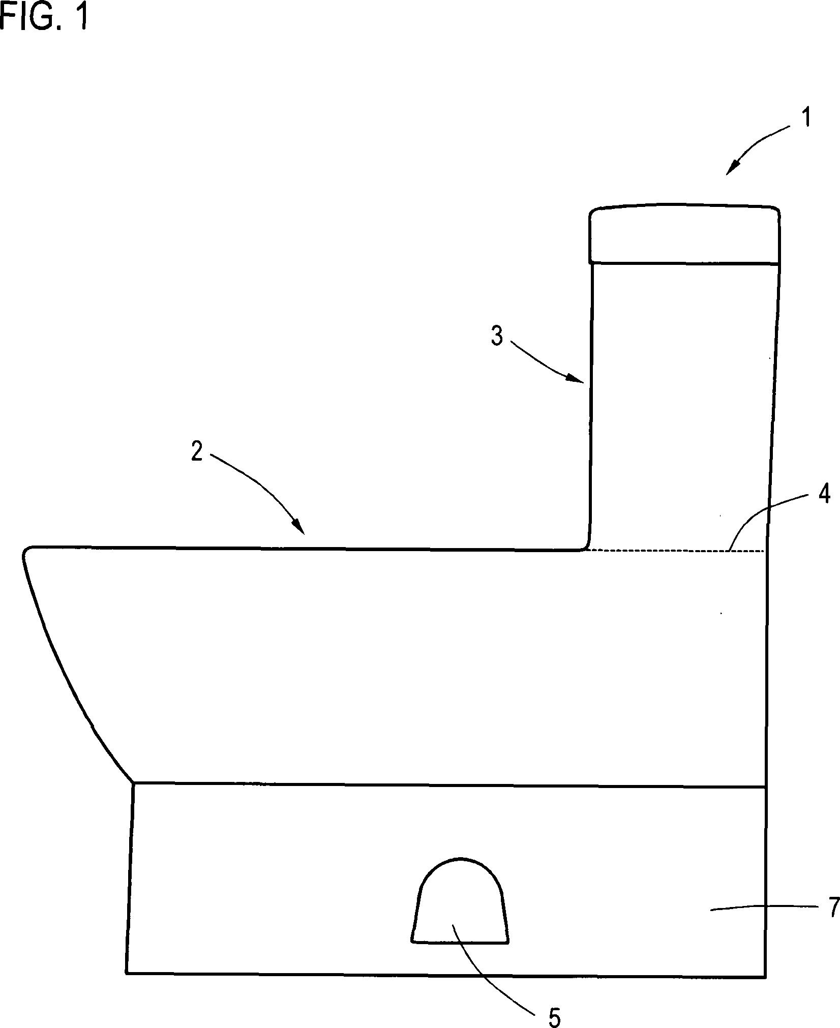 brevet de102012010580a1 stand wc mit angegossenem. Black Bedroom Furniture Sets. Home Design Ideas