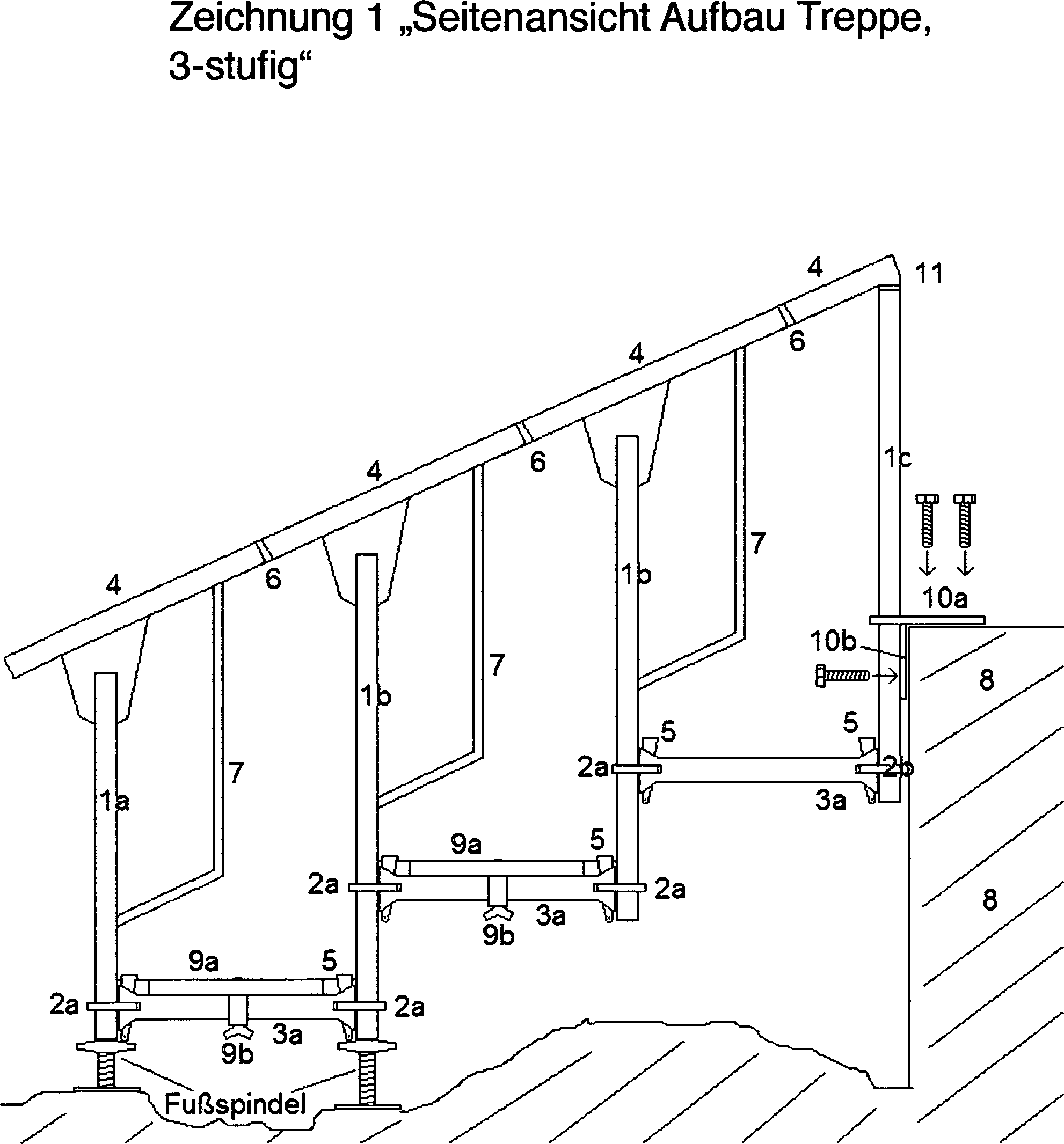patent de102012014707a1 zerlegbare treppe in modulbauweise google patents. Black Bedroom Furniture Sets. Home Design Ideas