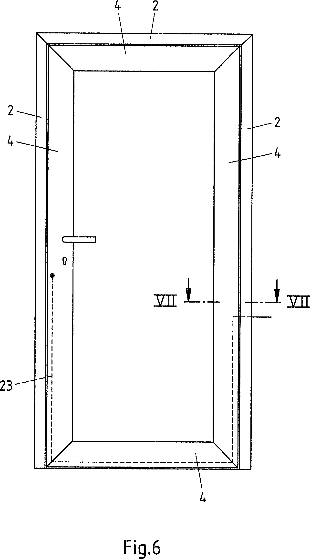 Haustür vertikalschnitt  Patente DE102012111005A1 - Tür, insbesondere Aluminium-Haustür ...