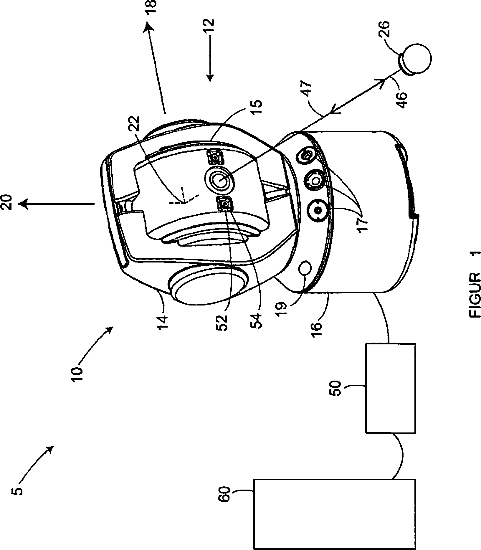 Patent DE112012001713T5 - Lasernachführungsgerät mit sechs ...