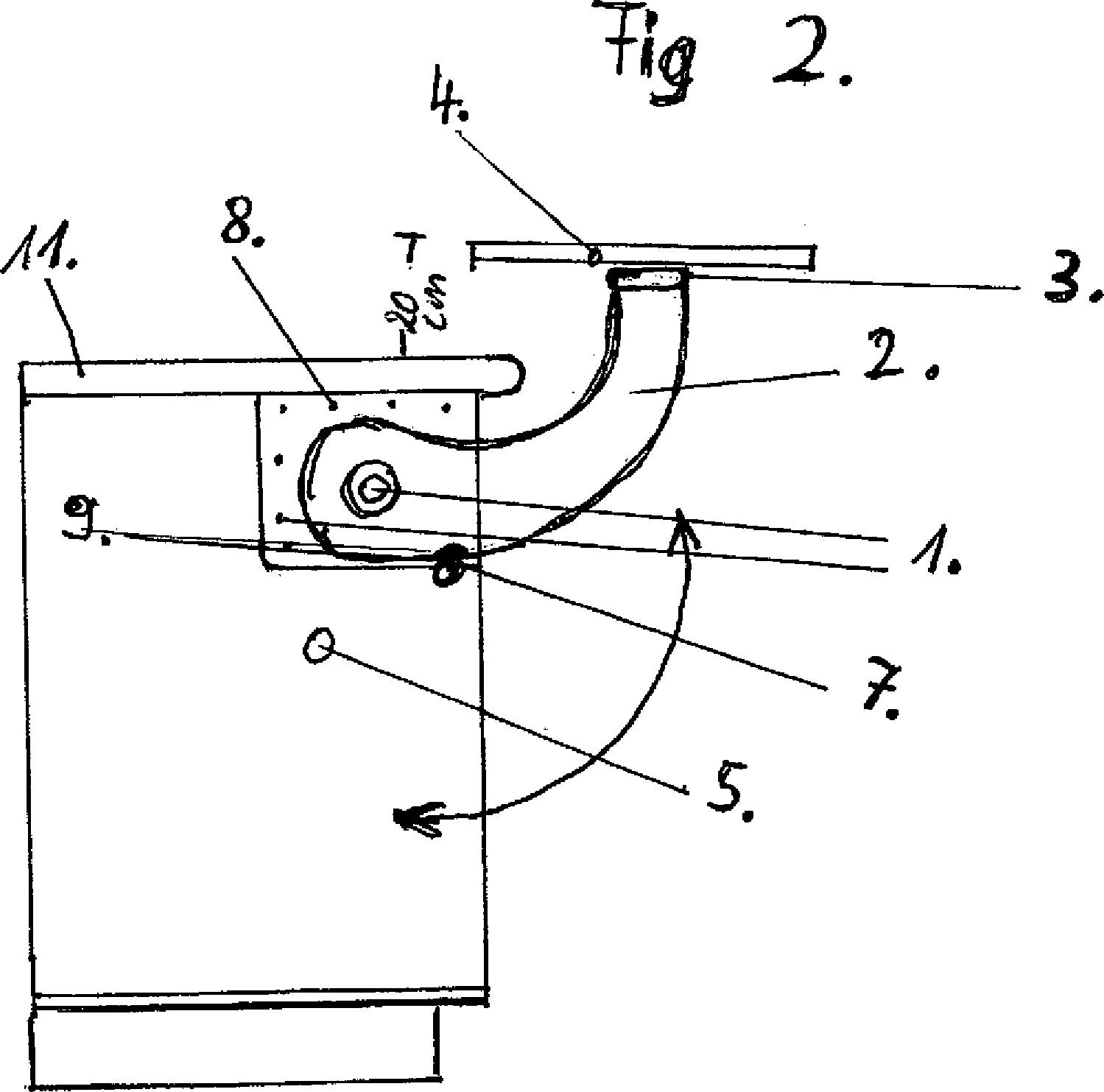 patent de202011105627u1 espressotisch einbau schwingtisch f r k chenunterschr nke 10 15 cm. Black Bedroom Furniture Sets. Home Design Ideas