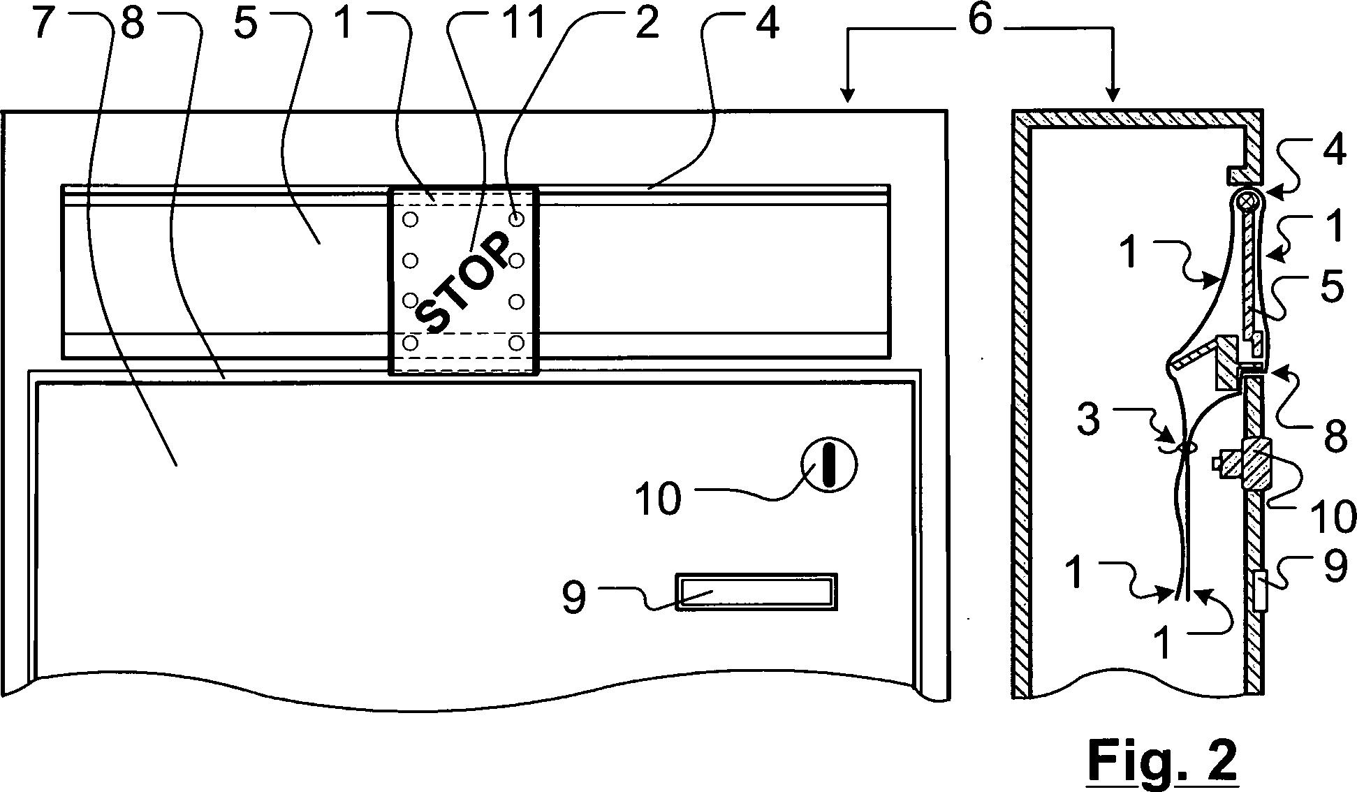 patent de202012007561u1 anpassbares verschlussband f r einwurfklappen von post und. Black Bedroom Furniture Sets. Home Design Ideas