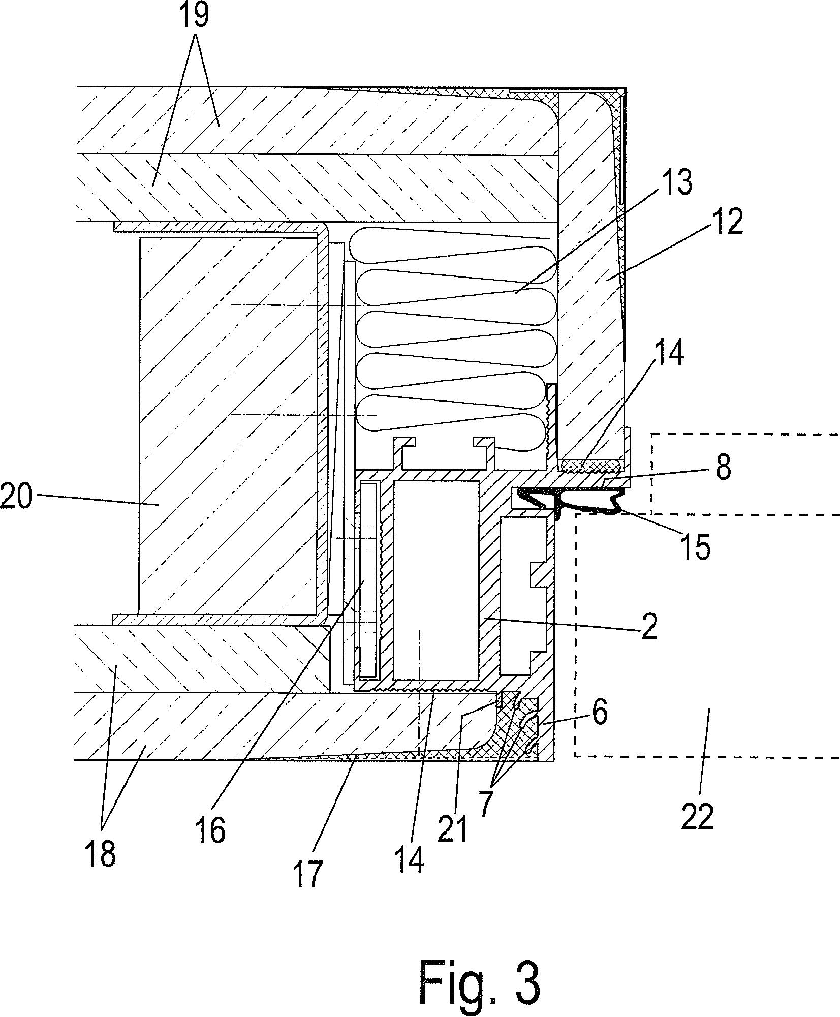 Türzarge detail  Patent DE202013104110U1 - Zargenprofil und Tür-oder Fensterzarge ...