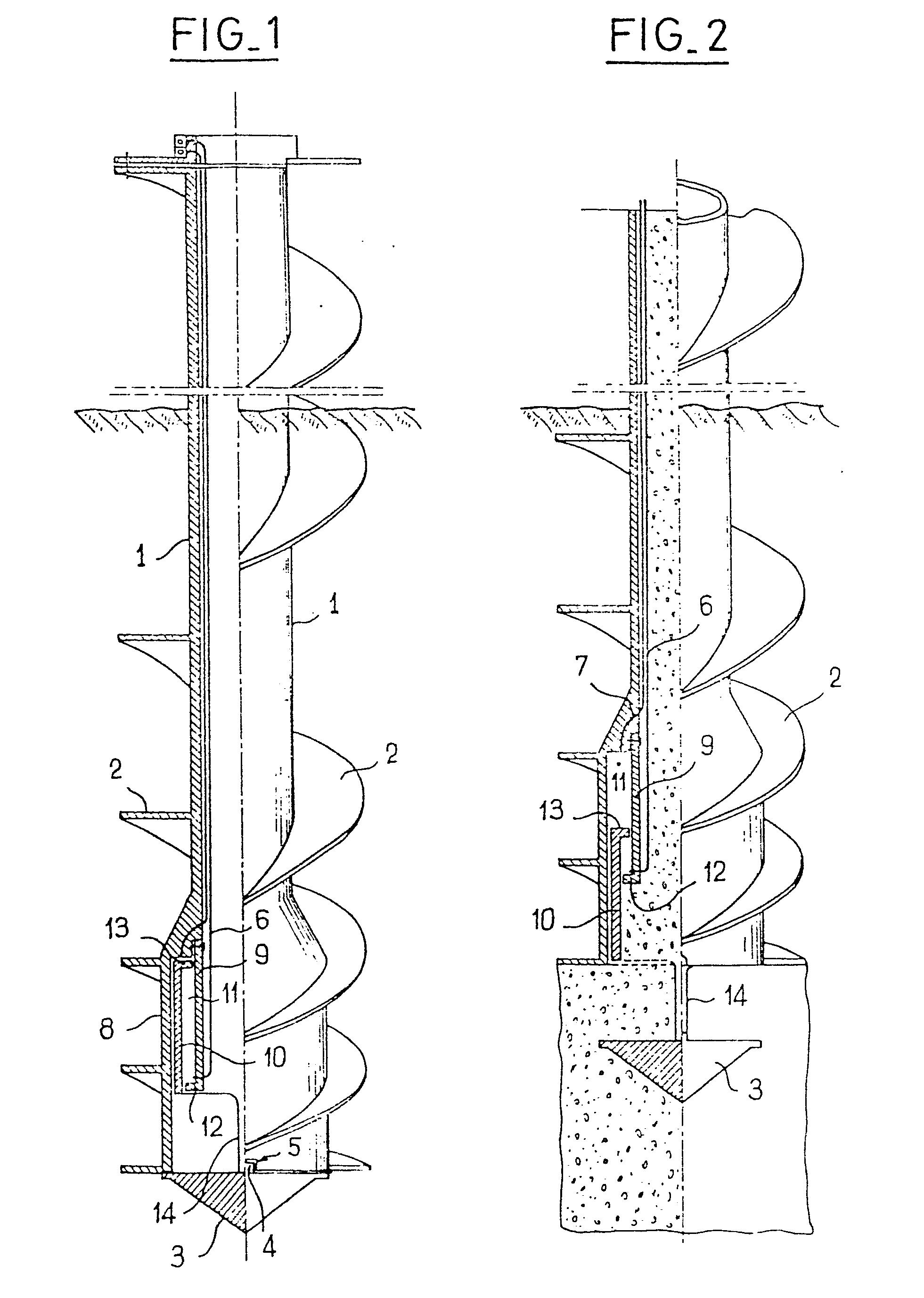 patent ep0010037a1 tari re creuse pour le forage en vue. Black Bedroom Furniture Sets. Home Design Ideas