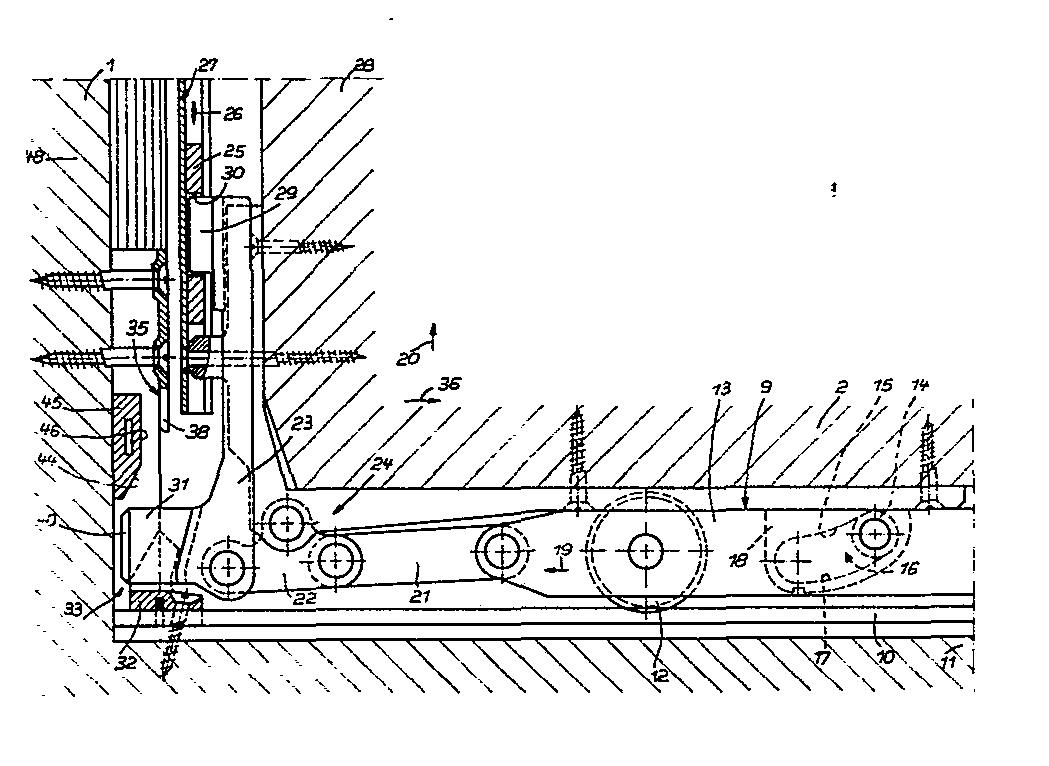 patent ep0021080a1 hebe schiebe kipp t r oder fenster google patents. Black Bedroom Furniture Sets. Home Design Ideas