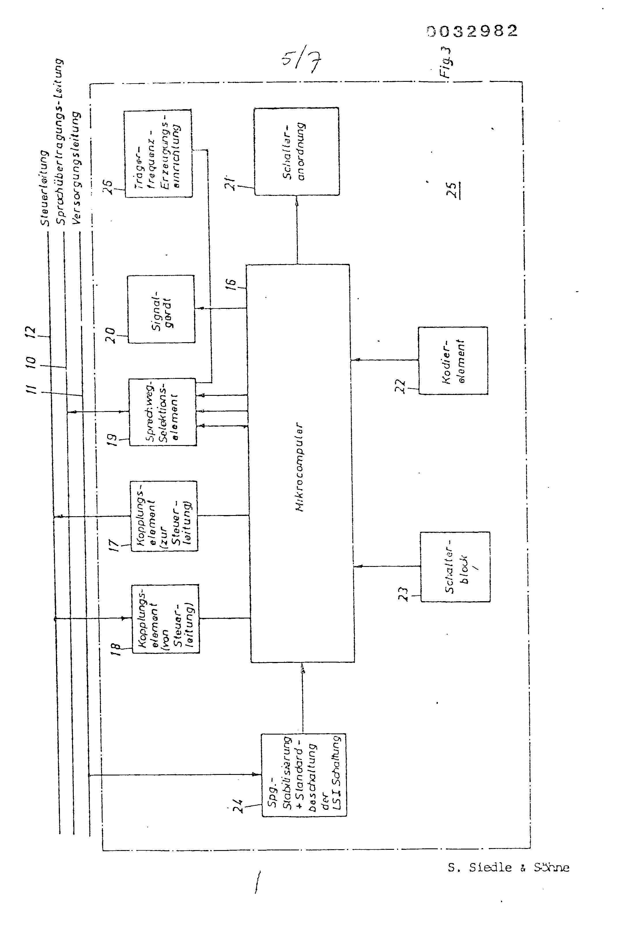 Patent EP0032982A1 - Installation domestique pour la transmission d ...