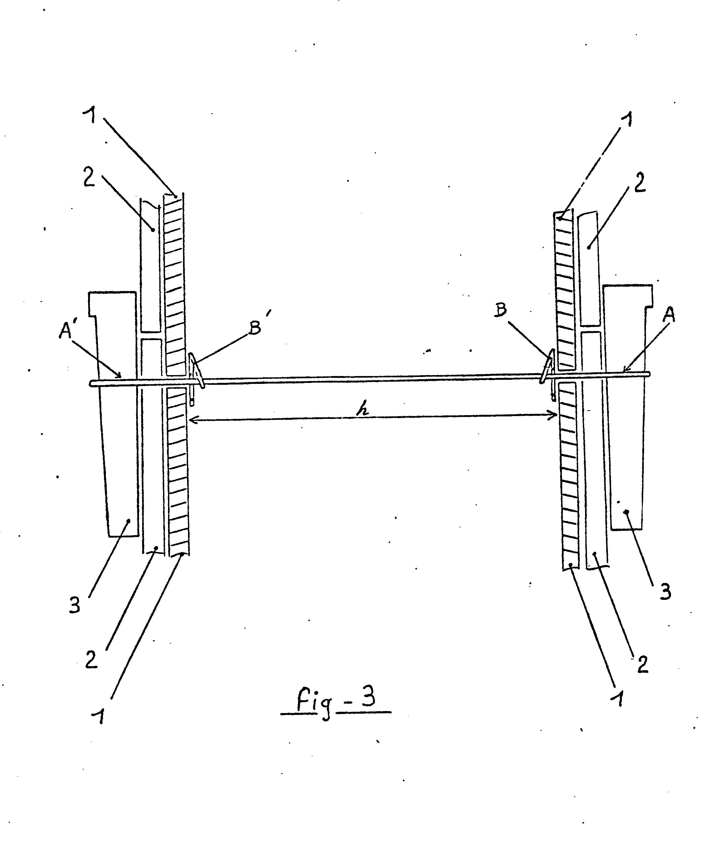 Patent EP0035461A- Dispositif distanceur pour coffrage