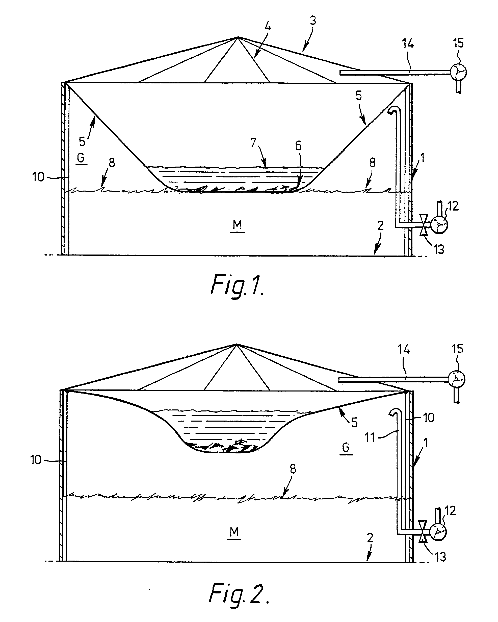 patent ep0045114b1 beh lter zum lagern von gas unter niedrigem druck insbesondere von biogas. Black Bedroom Furniture Sets. Home Design Ideas