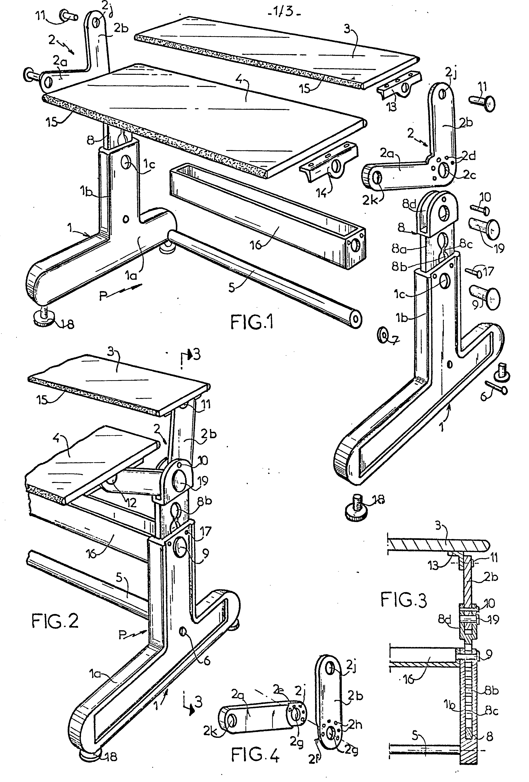 Patent ep0058125a2 universal transformable and for Table qui se deplie