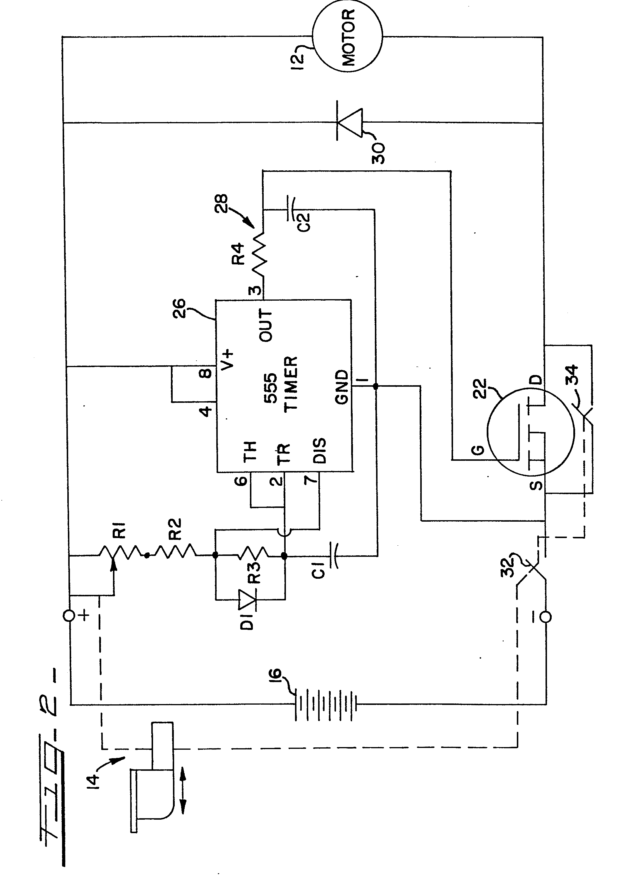 patent ep0076039a1 - speed control for power tools having a dc motor
