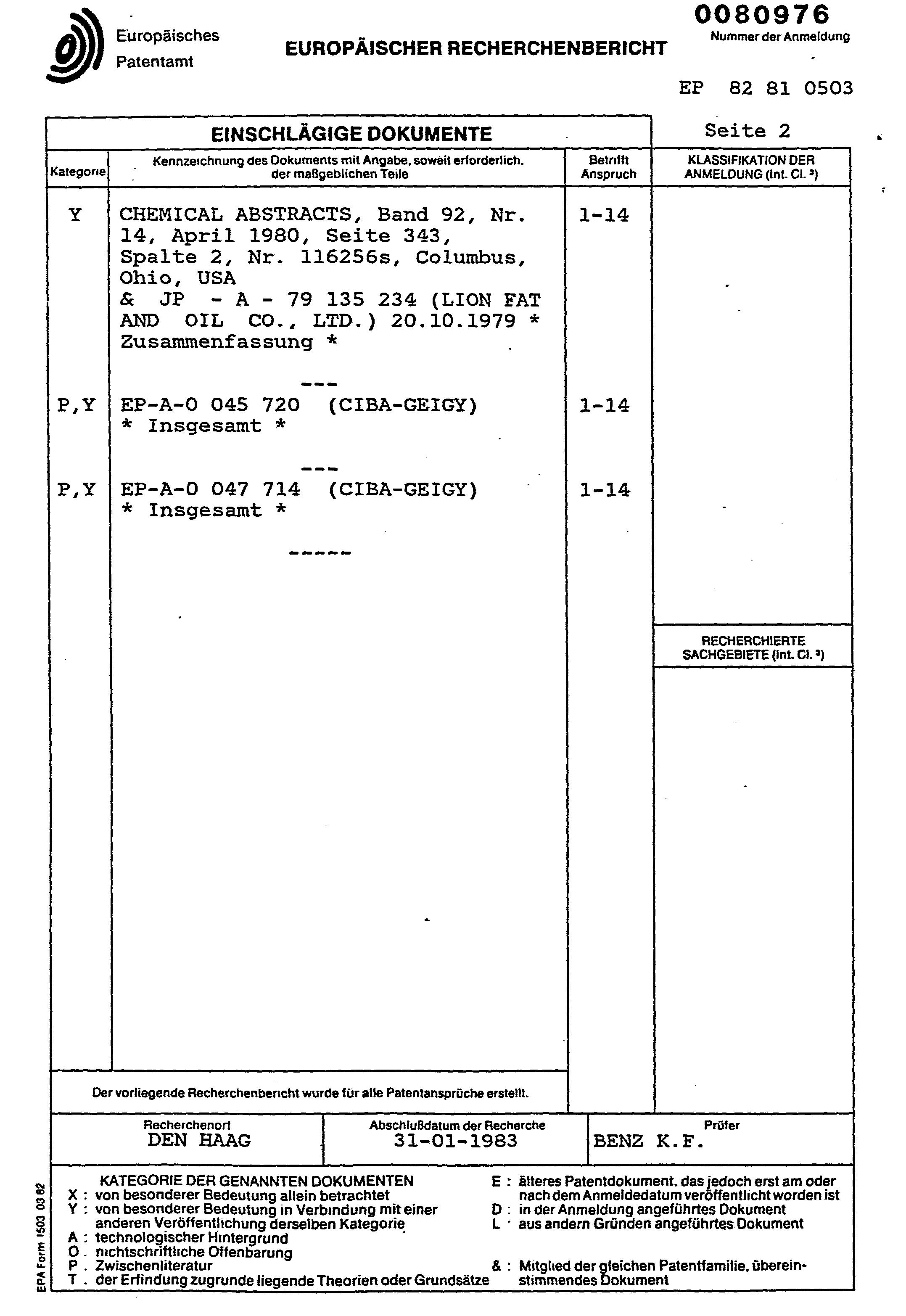 patent ep0080976a1 m langes des sels polym res acryliques d 39 ammonium quaternaire de sels mono. Black Bedroom Furniture Sets. Home Design Ideas