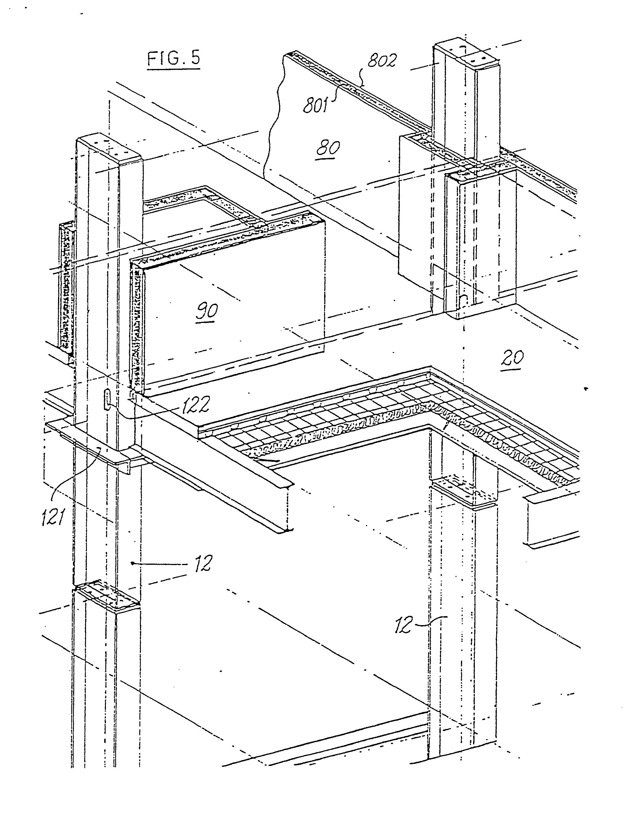 Patent ep0081496b1 systeme de batiment industrialise for Bureau 100x50
