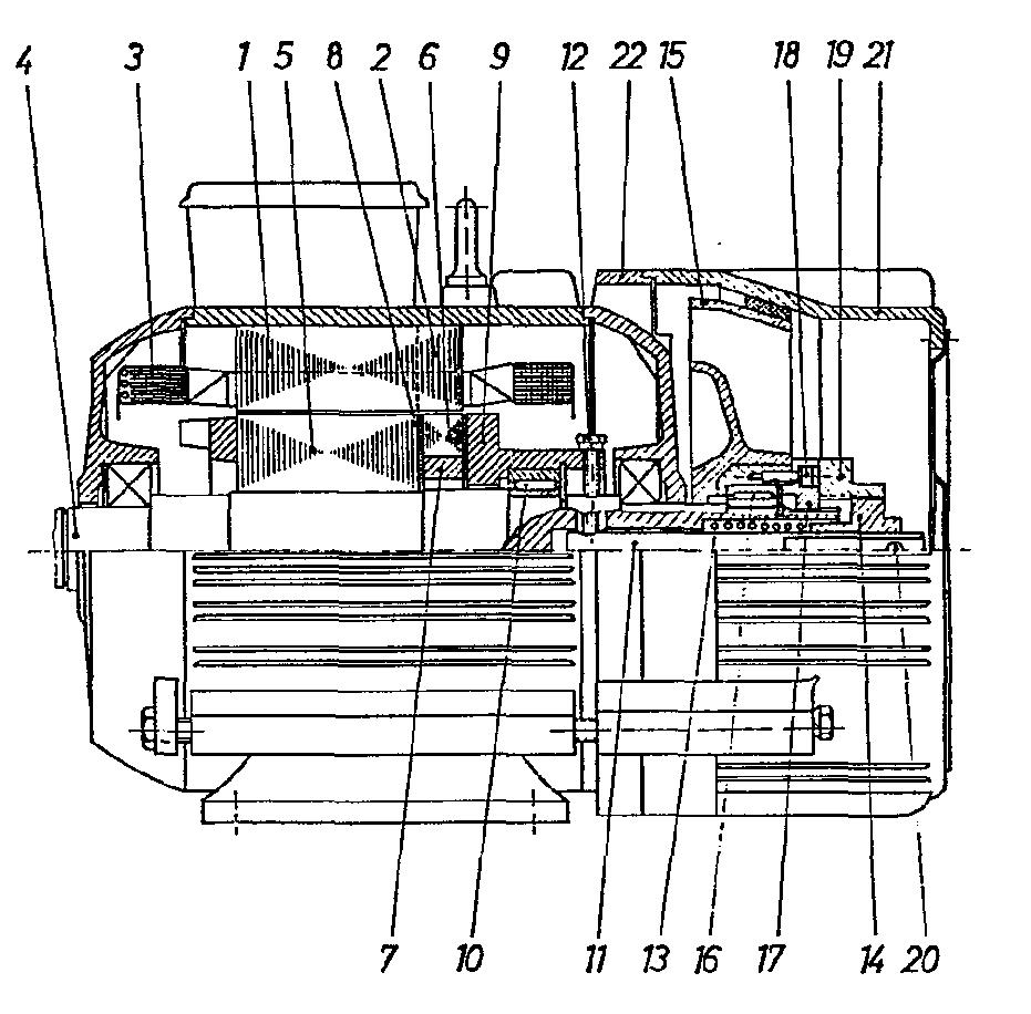 patent ep0081586a1 moteur electrique frein asynchrone a rotor en court circuit et a double. Black Bedroom Furniture Sets. Home Design Ideas