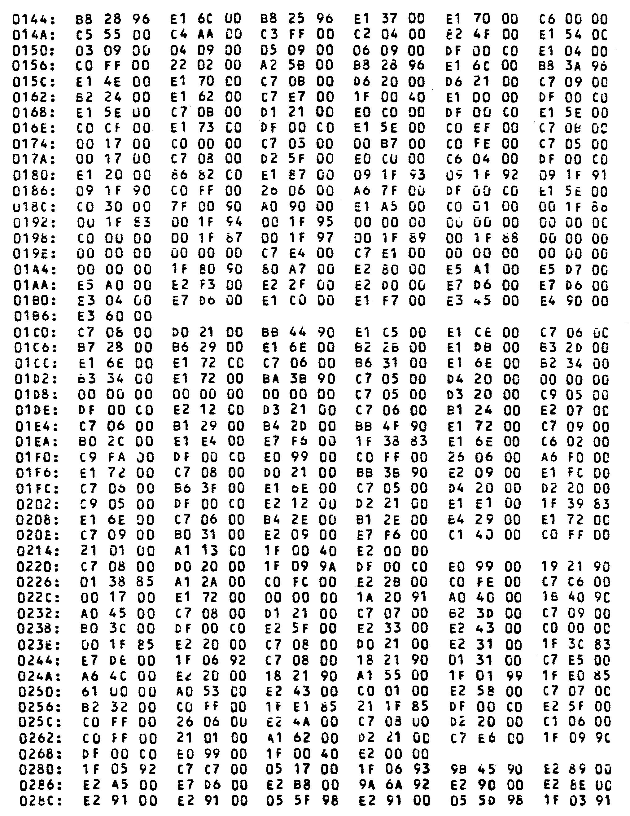 machine disk format