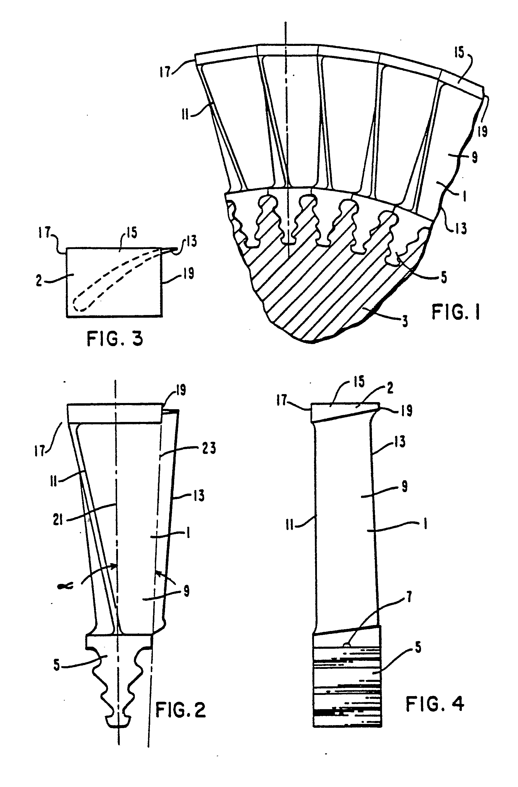 Patent EP B1 Turbine blade with integral shroud and method