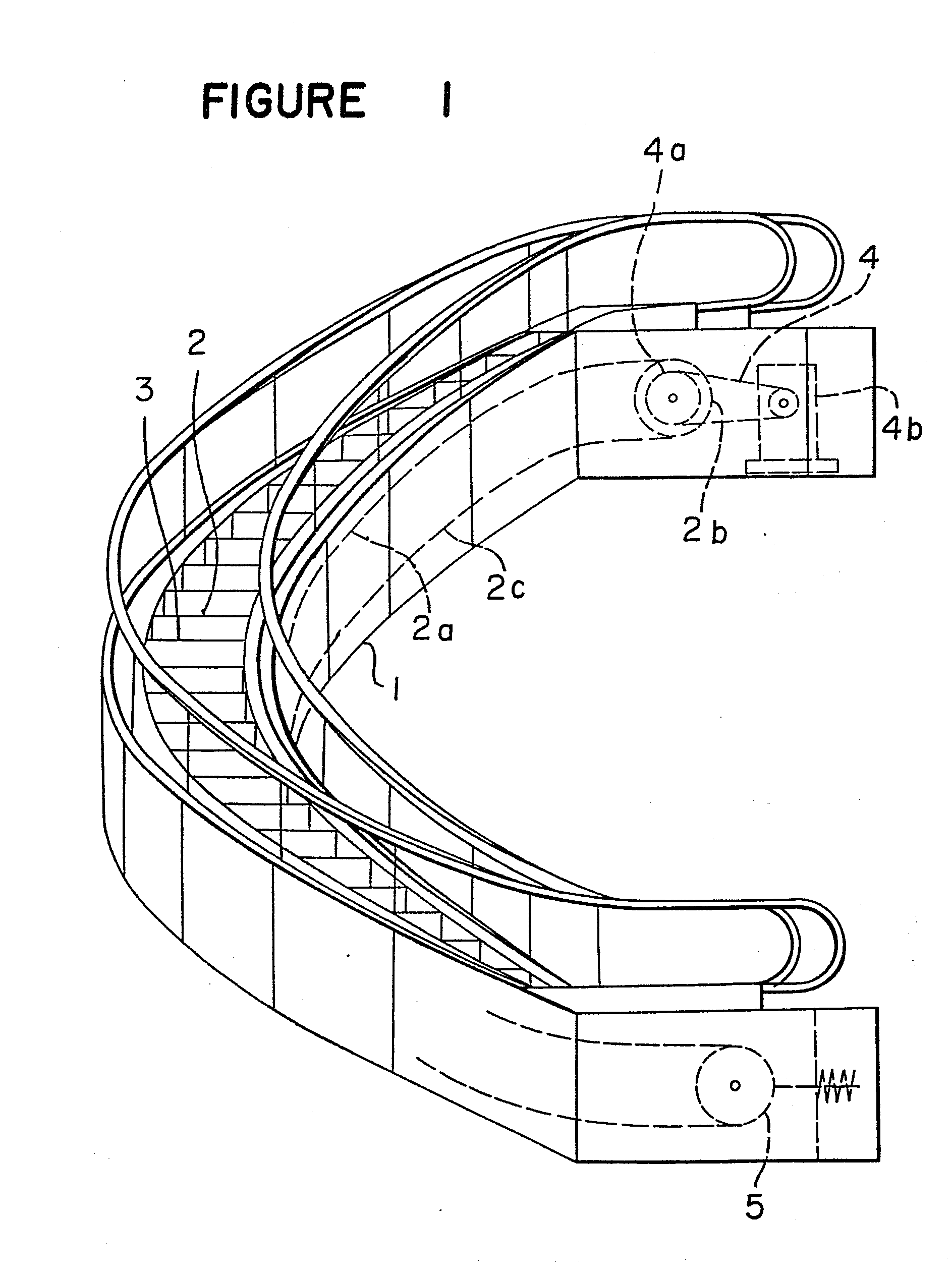 patent ep0118813a2 - curvilinear escalator