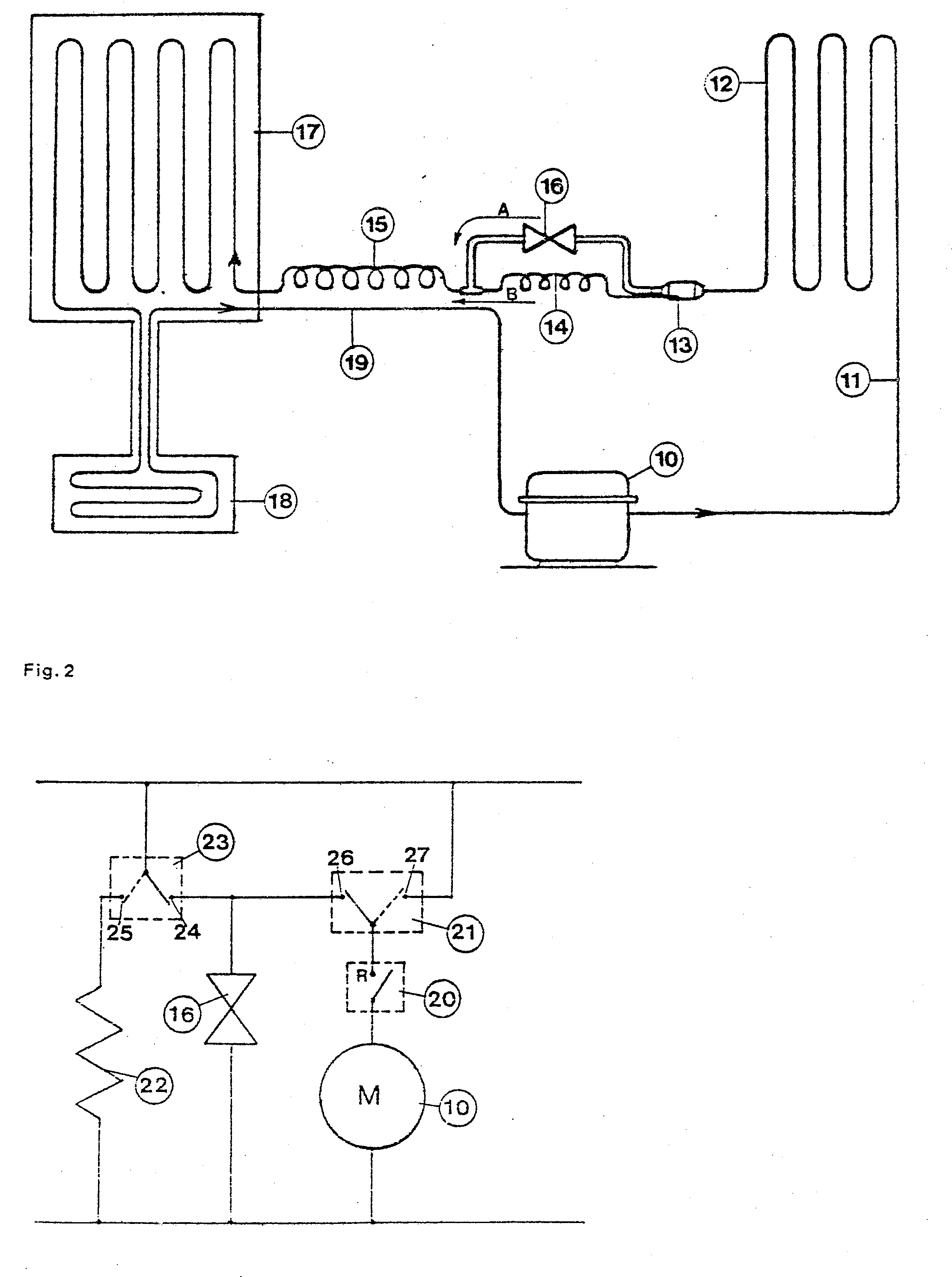 patent epa refrigerant circuit for a refrigerator patent drawing