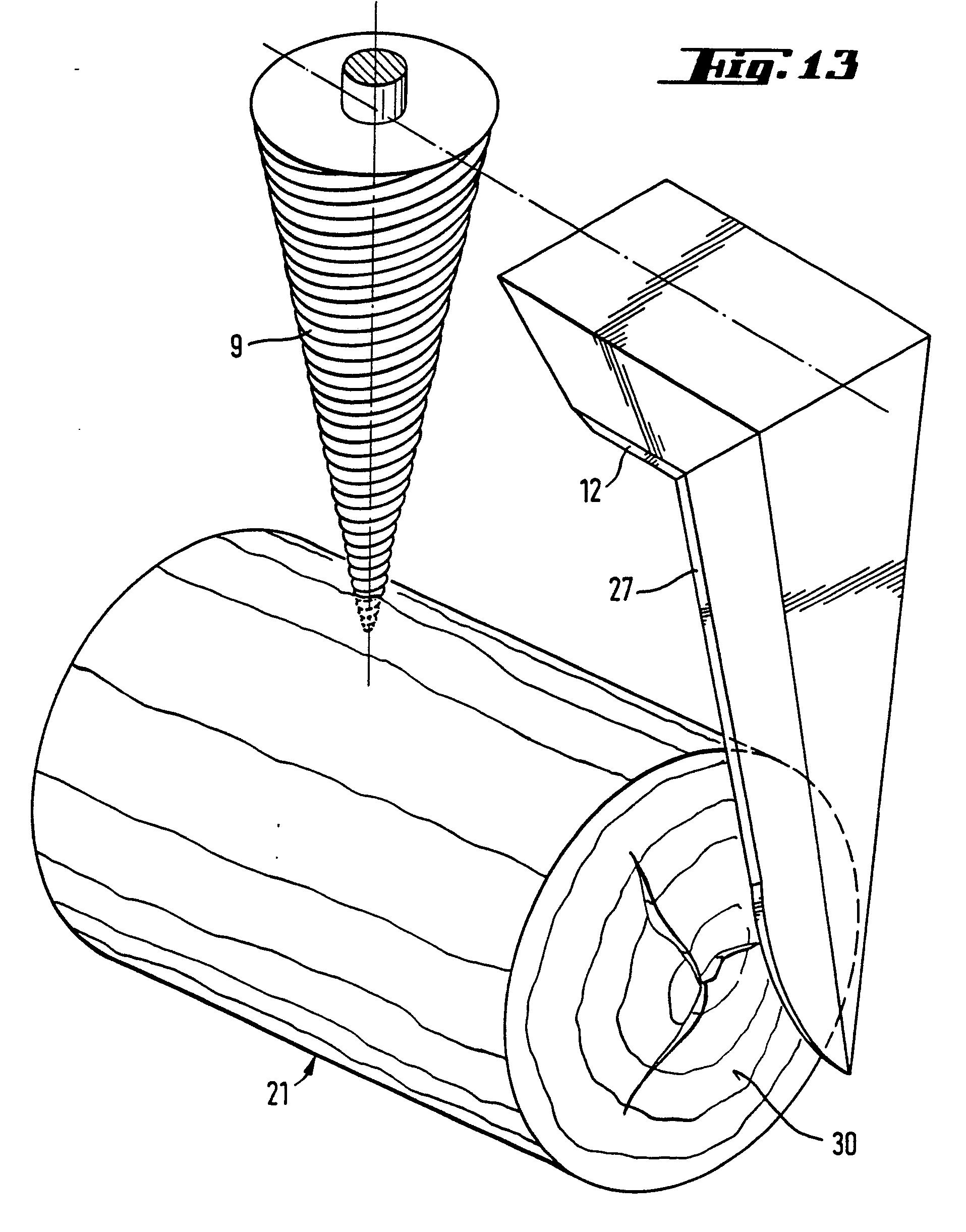 patent ep0134802b1 dispositif pour fendre le bois et. Black Bedroom Furniture Sets. Home Design Ideas
