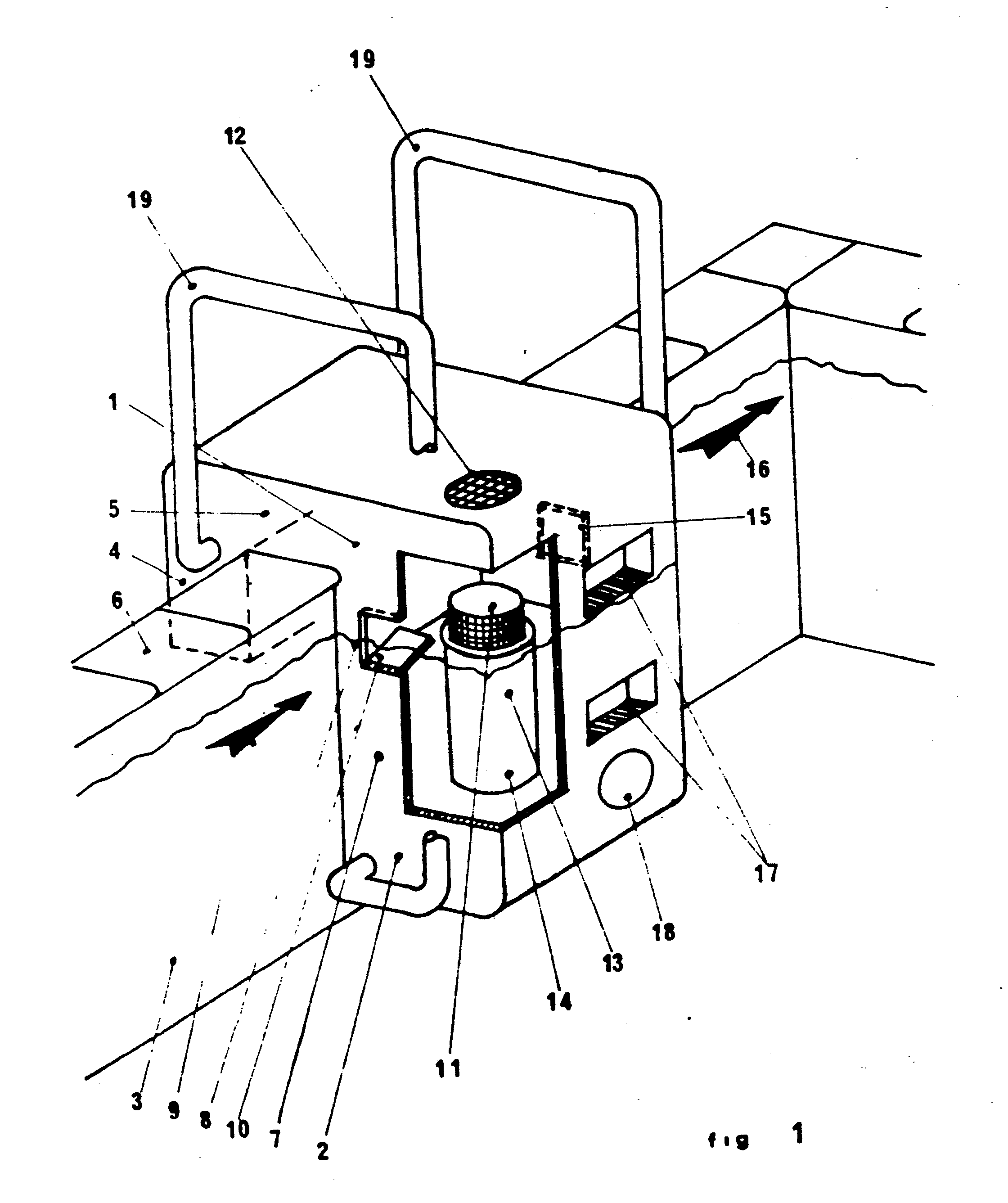 Patent ep0145619a2 compact service unit for swimming for What does piscine mean in french