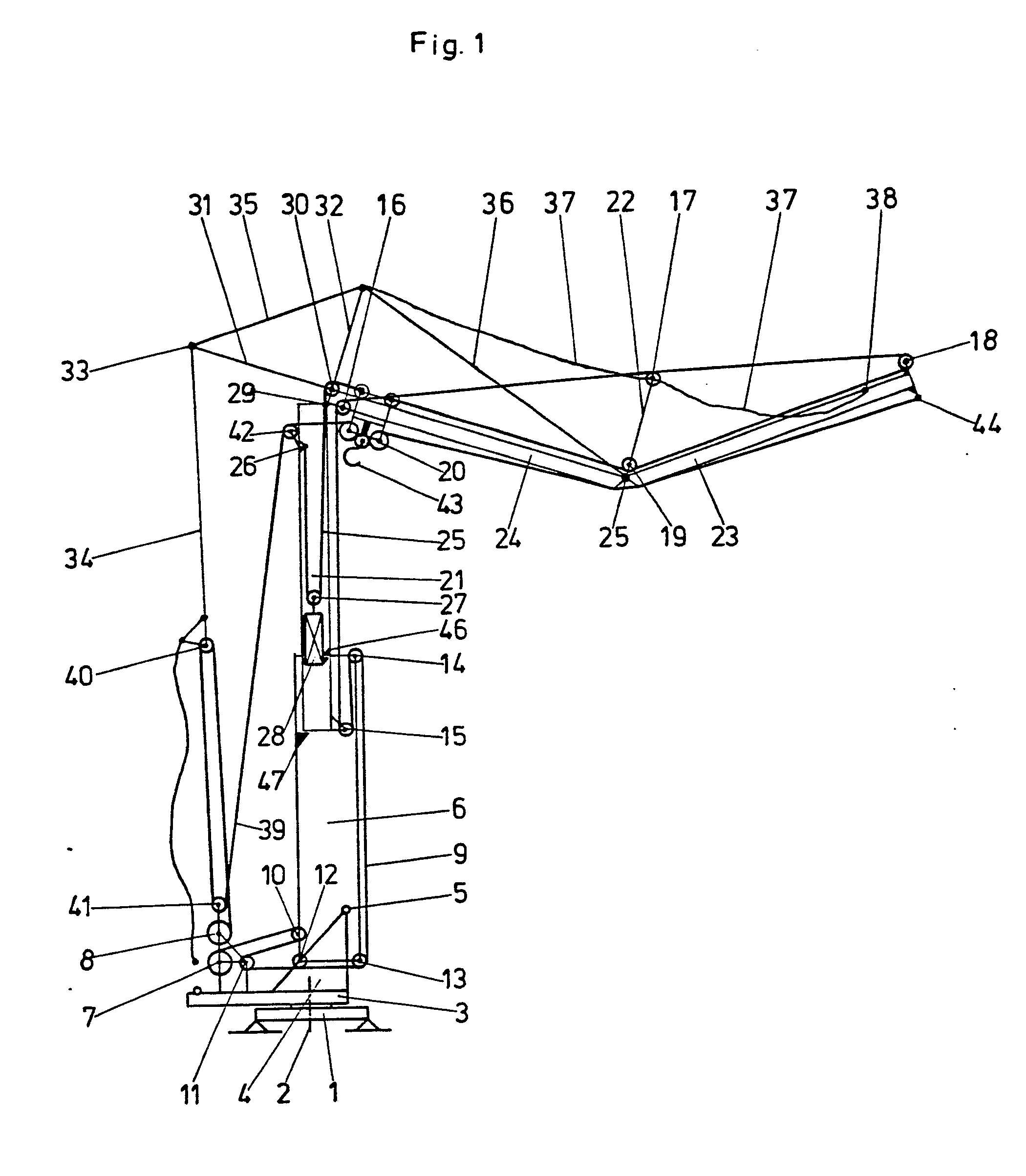Tower Crane Inventor : Patent ep b crane with telescopic tower google