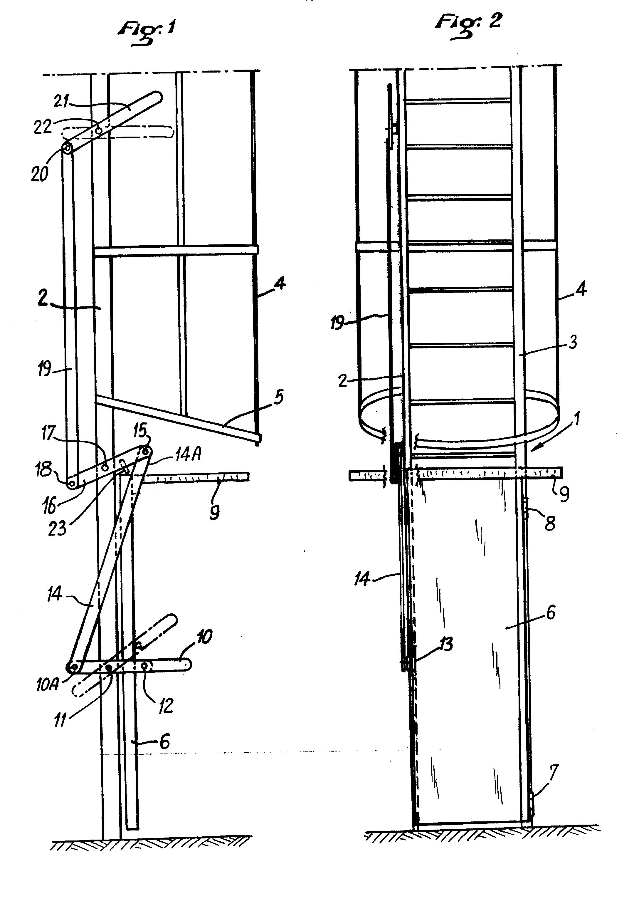 patente ep0151076a2 dispositif pour condamner l 39 acc s aux chelles crinoline google patentes. Black Bedroom Furniture Sets. Home Design Ideas