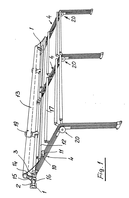 patent ep0167500b1 support pour auvent comportant une. Black Bedroom Furniture Sets. Home Design Ideas