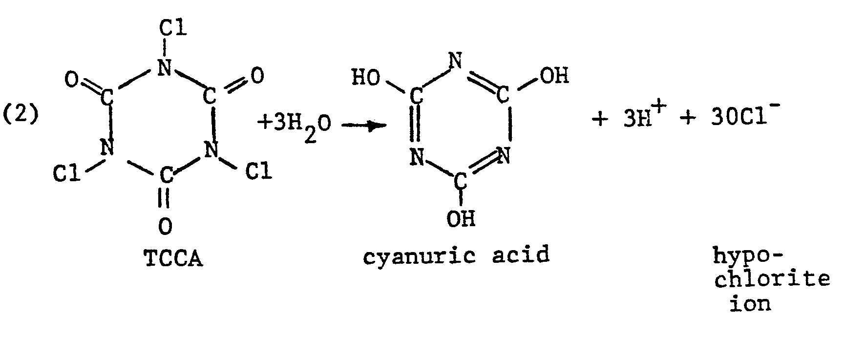 Hypochlorite Ion generates hydrogen ion