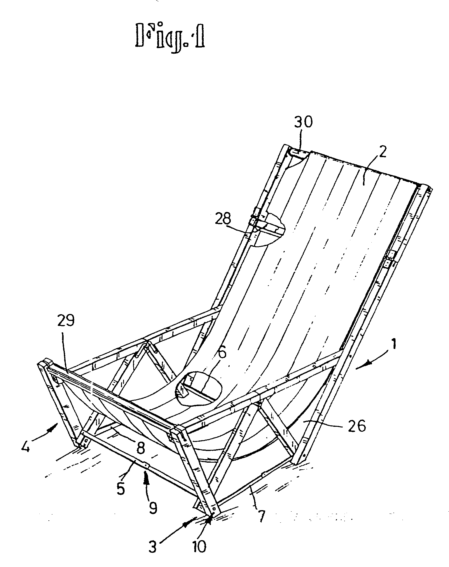 Liegestuhl Klappliegestuhl Metall Holz Oder Kunststoff ~ Patent EP0172266A1  Zusammenfaltbarer Liegestuhl  Google Patents