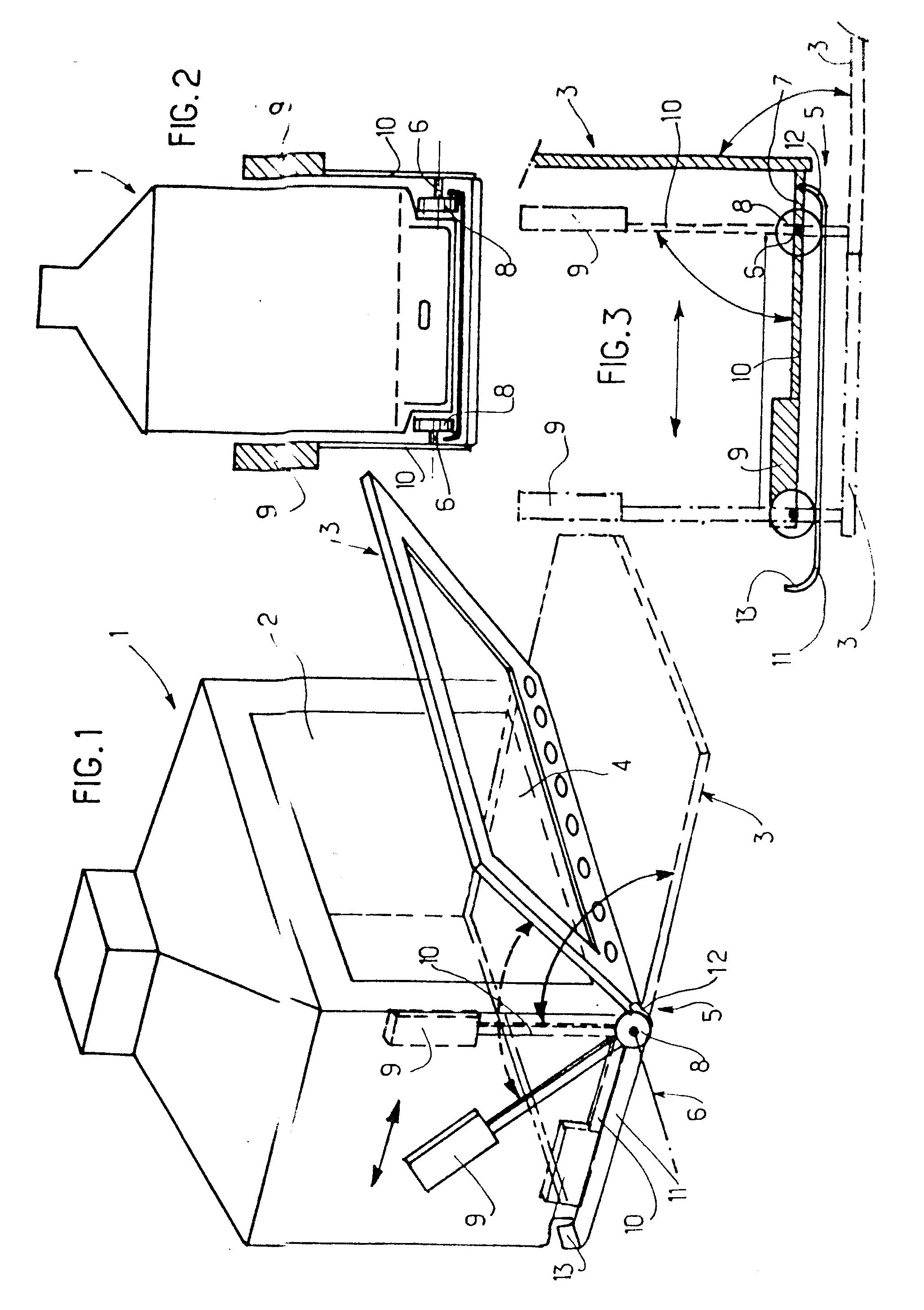 Patent ep0183633b1 porte escamotable et son m canisme de for Mecanisme porte pivotante
