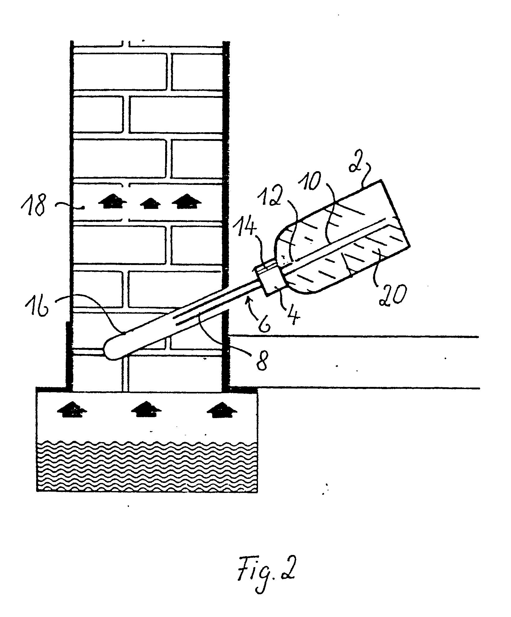 patent ep0184167b1 vorrichtung zum tr nken von mauerwerk zur erzeugung einer horizontalsperre. Black Bedroom Furniture Sets. Home Design Ideas