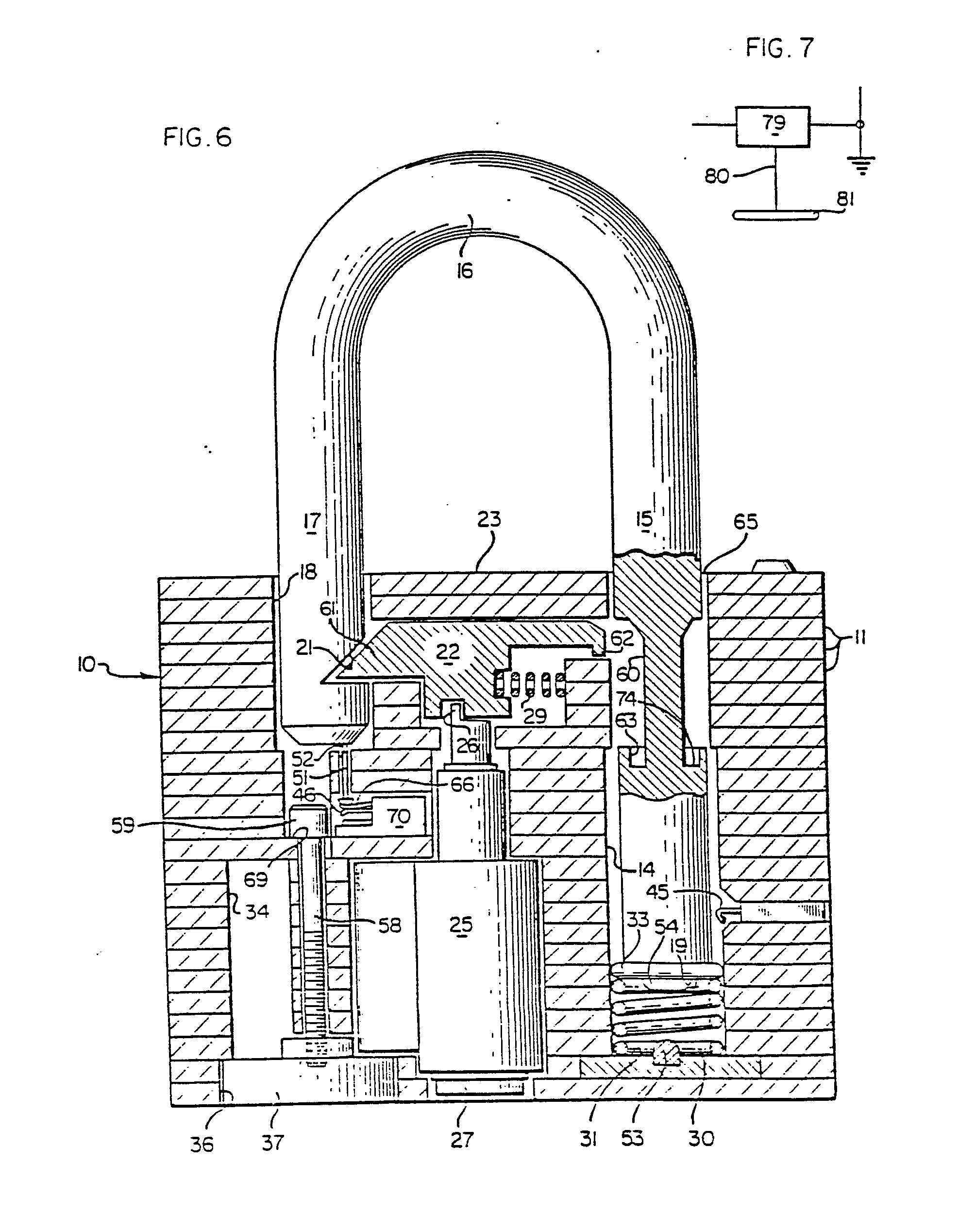 imgf0003 patent ep0189147b1 padlock with tamper actuated audible and or padlock diagram at crackthecode.co