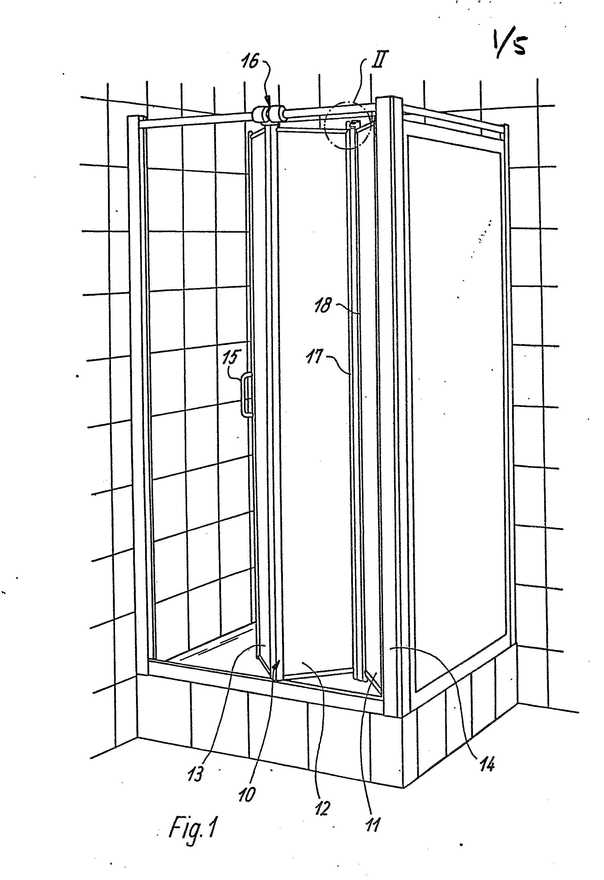 patent ep0194699a1 porte pliante pour cabine de douche. Black Bedroom Furniture Sets. Home Design Ideas