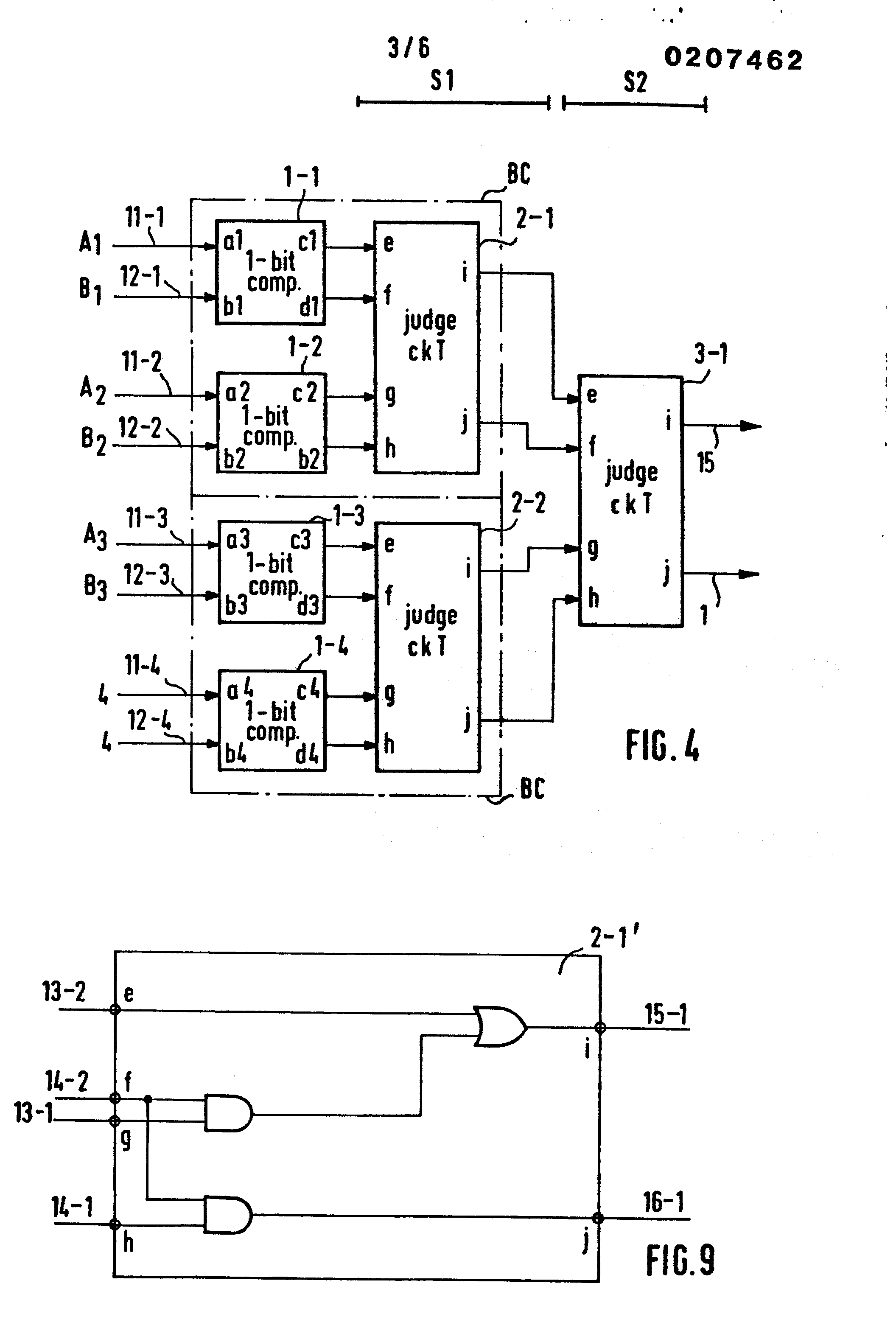 patent ep0207462a2 - comparator circuit