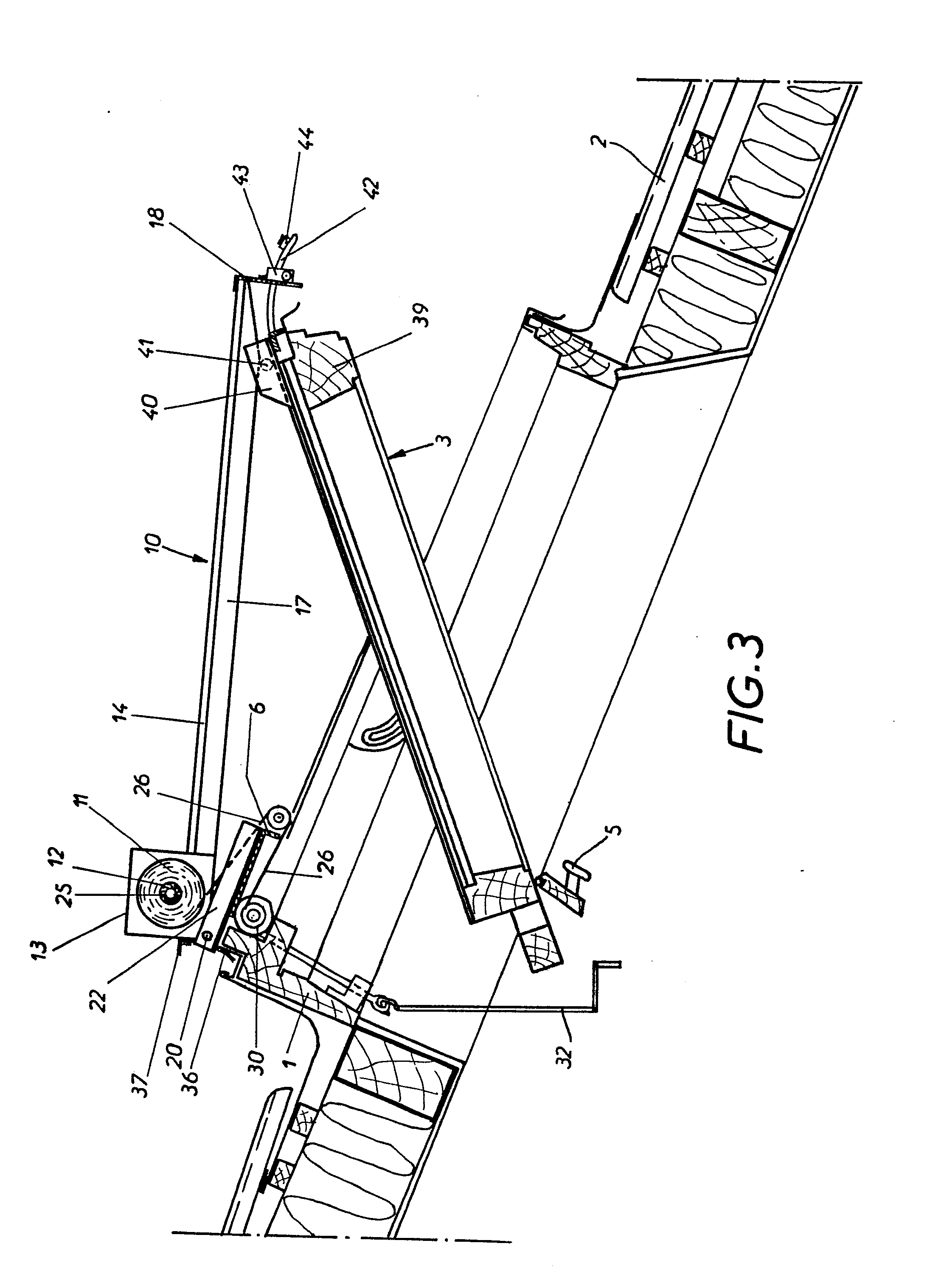 Treuil pour volet roulant manivelle vitre