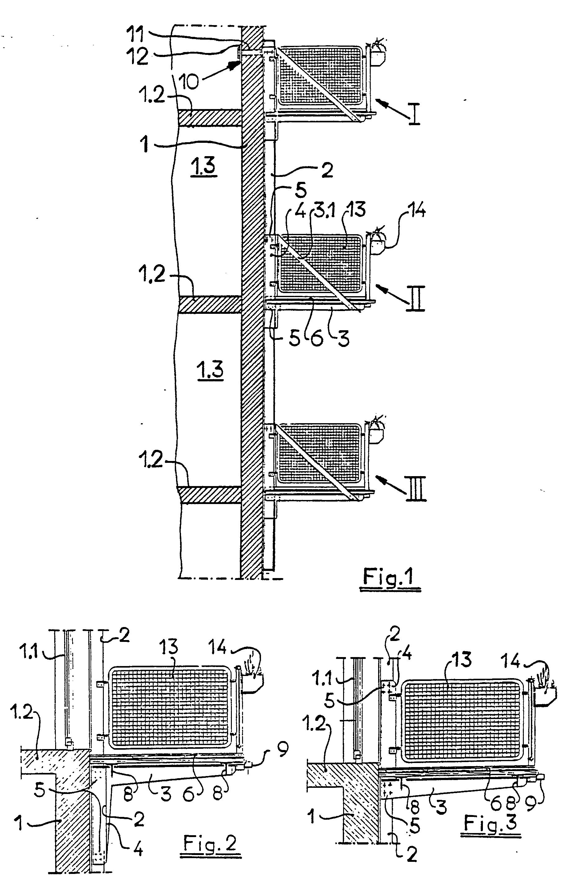 patent ep0227937b1 balkon zum nachtr glichen anbringen an ein geb ude google patents. Black Bedroom Furniture Sets. Home Design Ideas