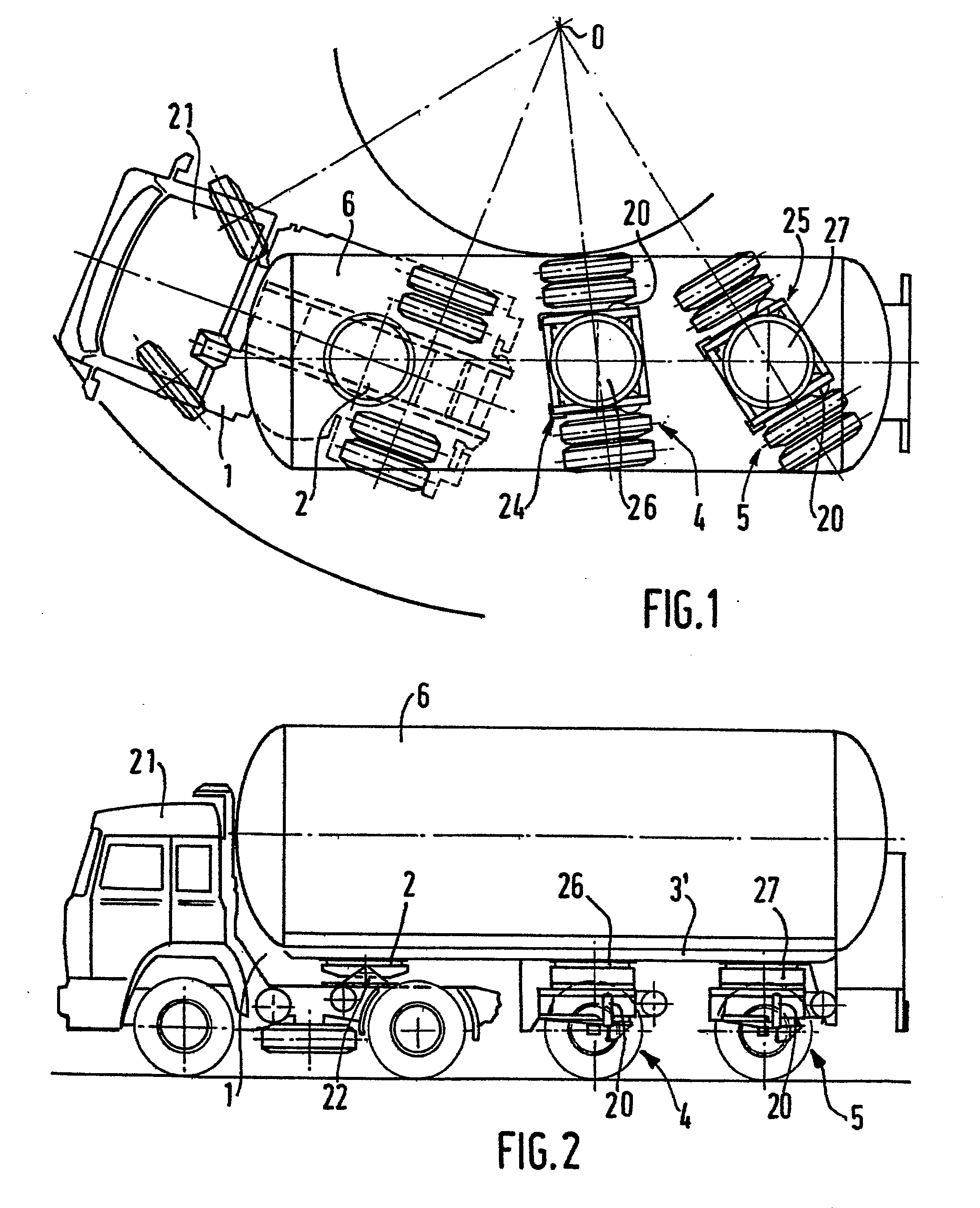 Semi Steering System : Patent ep b steering system for a semi trailer