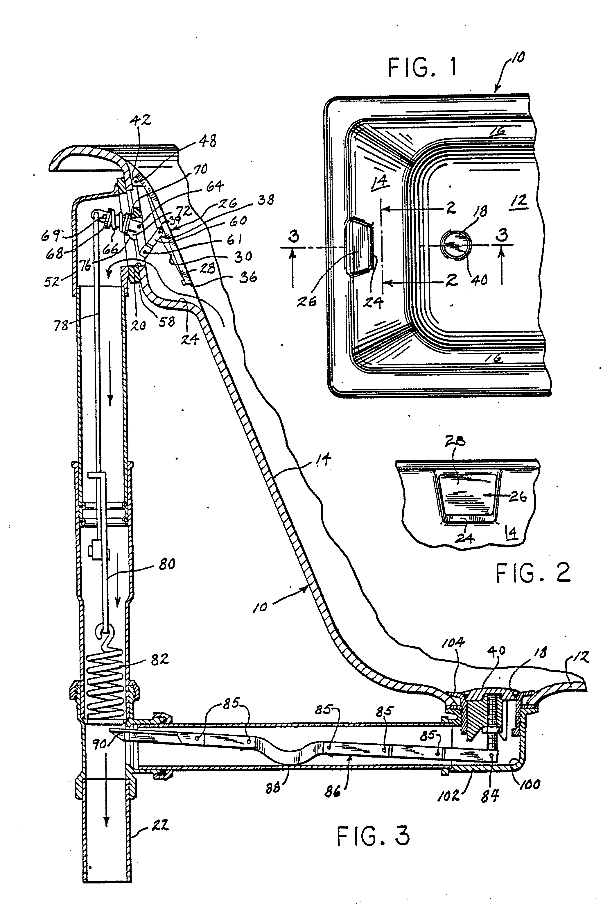 patent ep0254938a2 bathtub drain control valve and