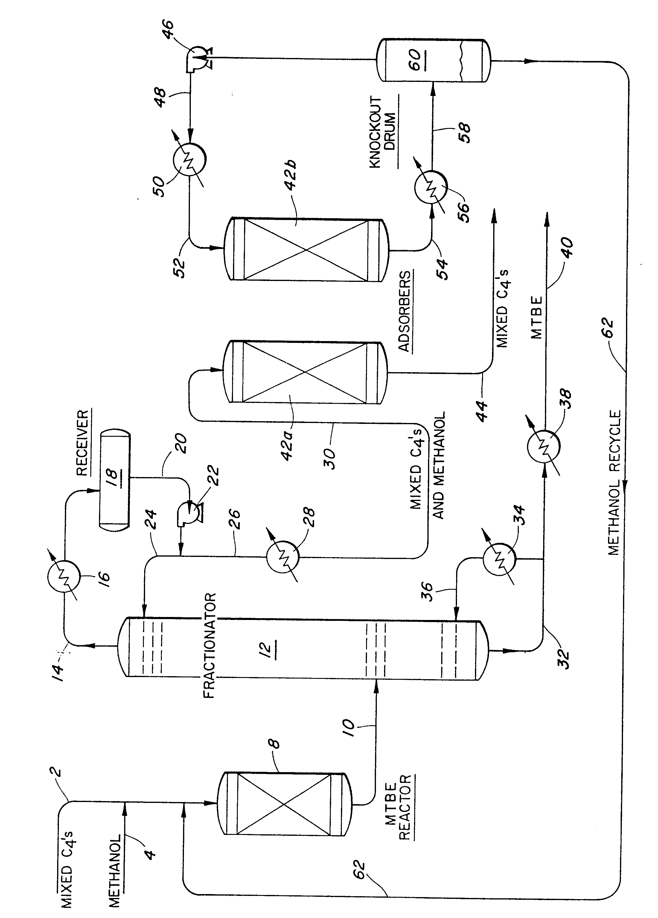 patent ep0264282a1 - recovery of methanol in an mtbe process